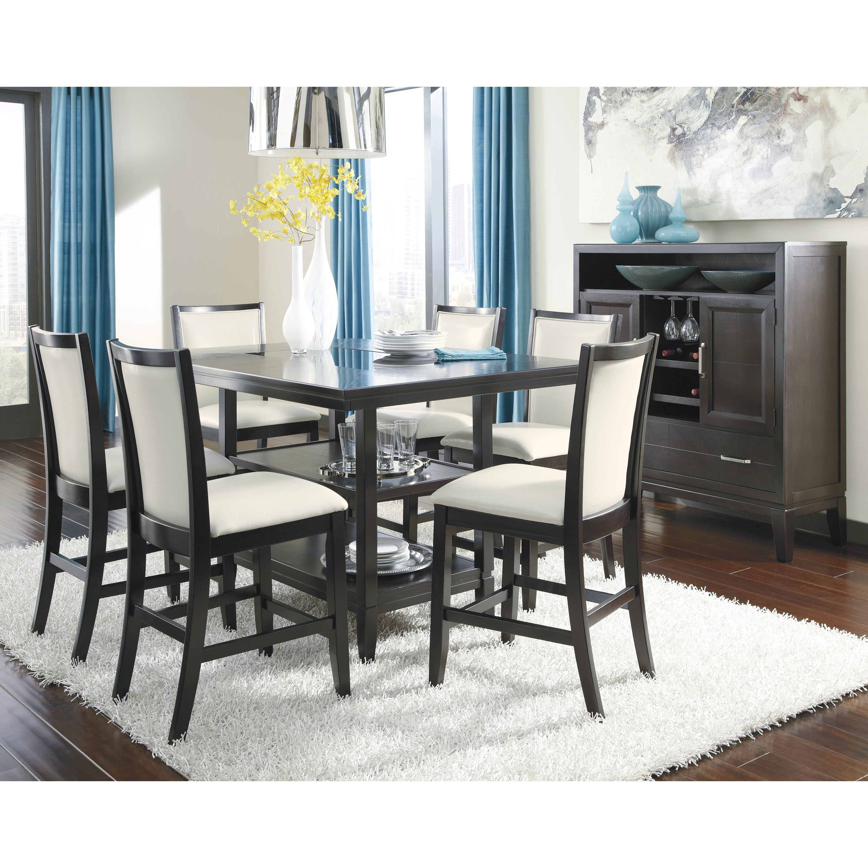 Stunning Counter Height Dining Room Table Sets Images