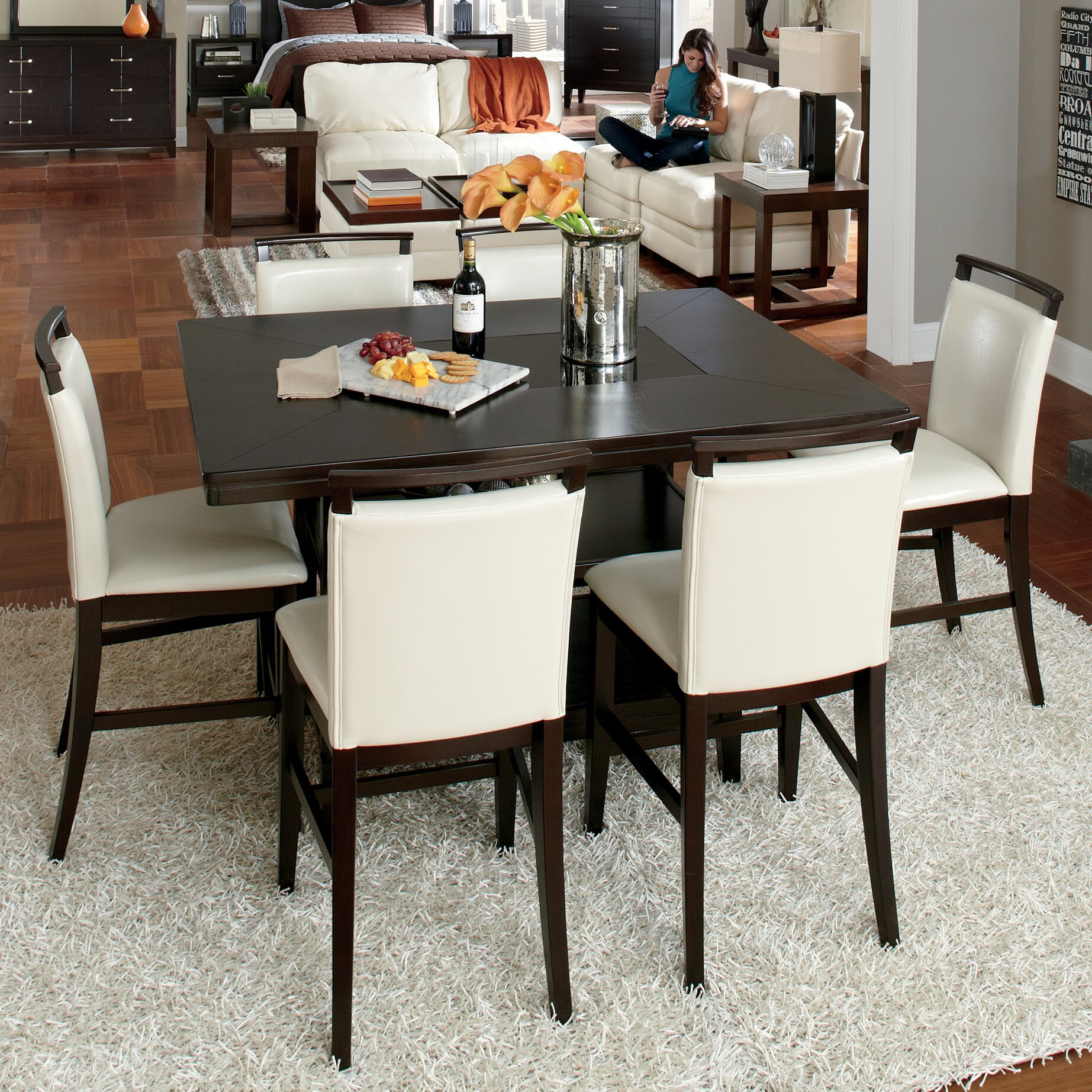 Signature Design by Ashley Trishelle Counter Height Dining  : Trishelle Counter Height Dining Table D550 32 from www.wayfair.com size 1845 x 1845 jpeg 1094kB