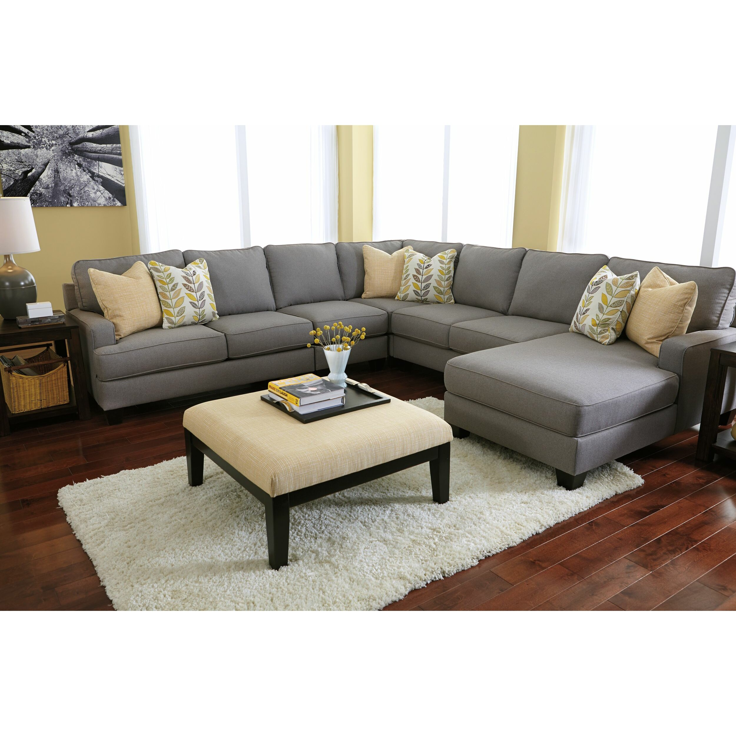 Signature design by ashley chamberly oversized accent for Footstool living room