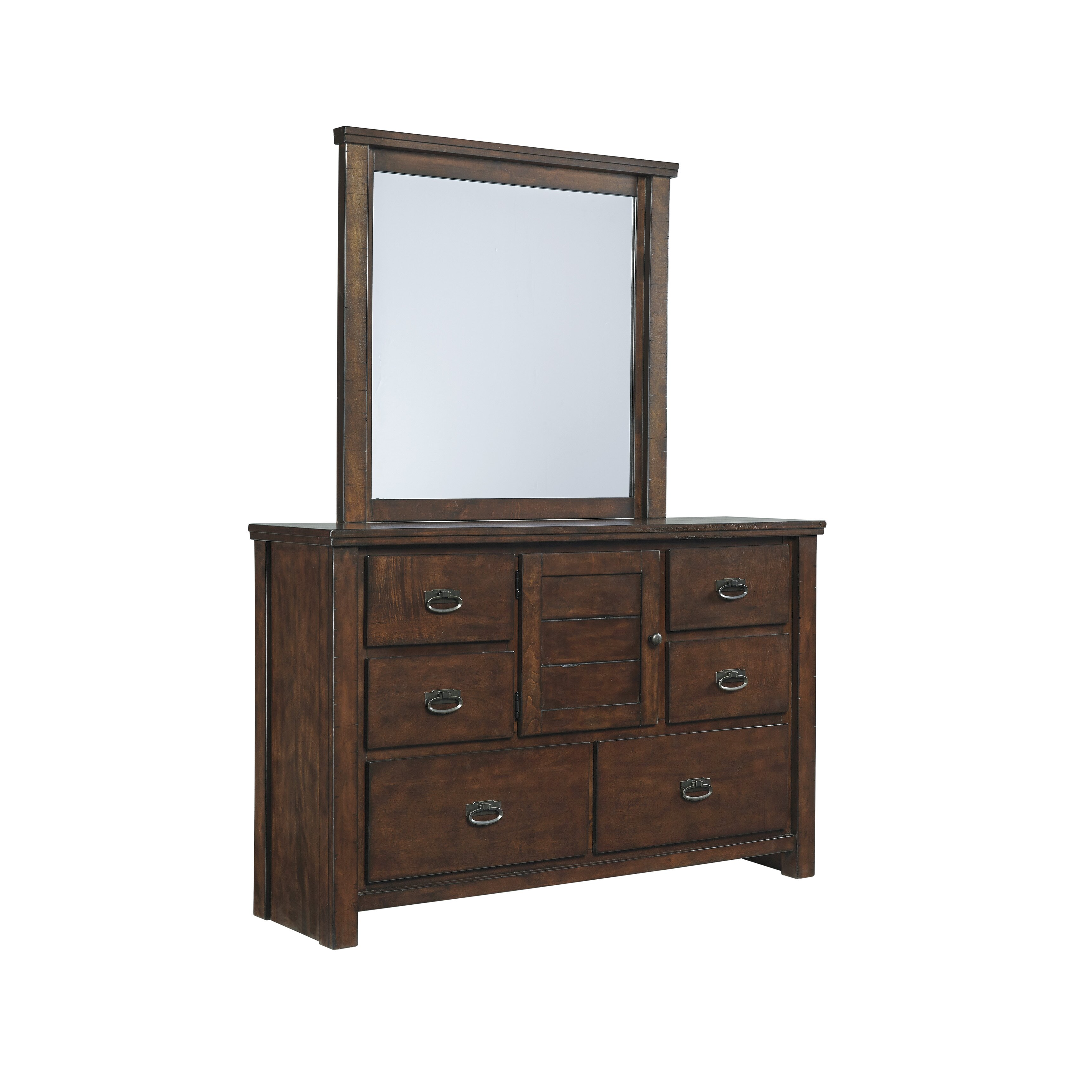 Signature design by ashley ladiville 6 drawer dresser for 1 door 6 drawer chest