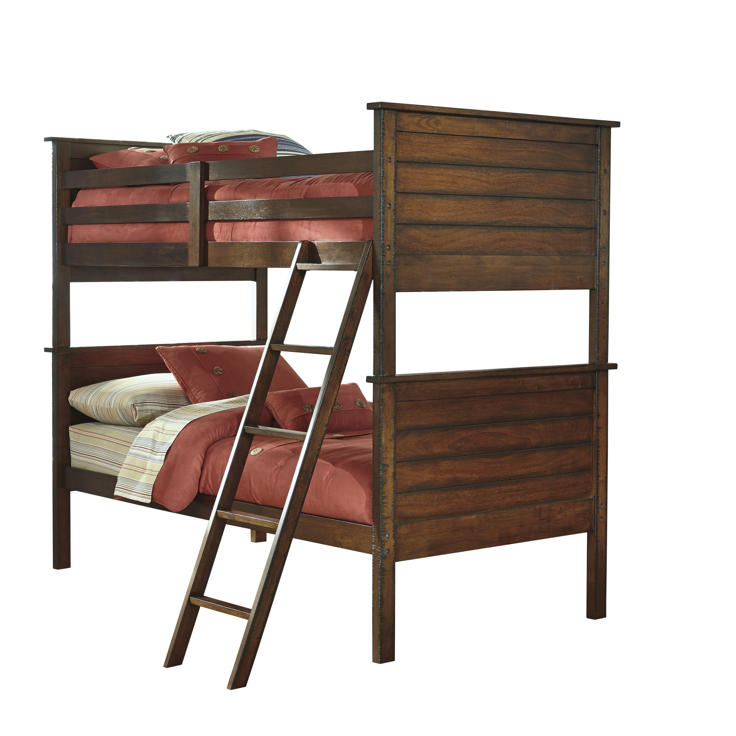 Signature Design By Ashley Ladiville Twin Futon Bunk Bed Customizable Bedroom Set Reviews