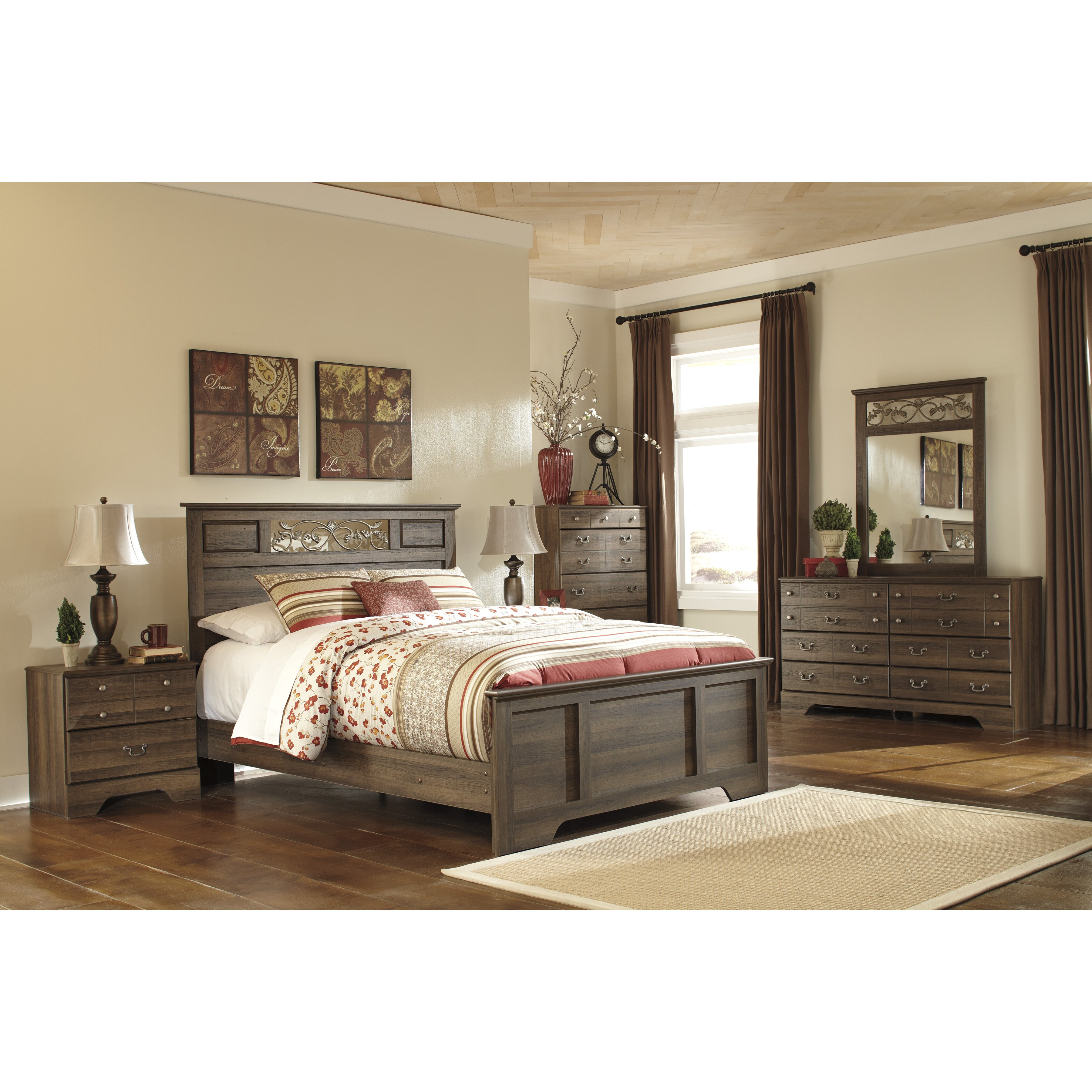 Signature design by ashley allymore panel customizable - Ashley bedroom furniture reviews ...