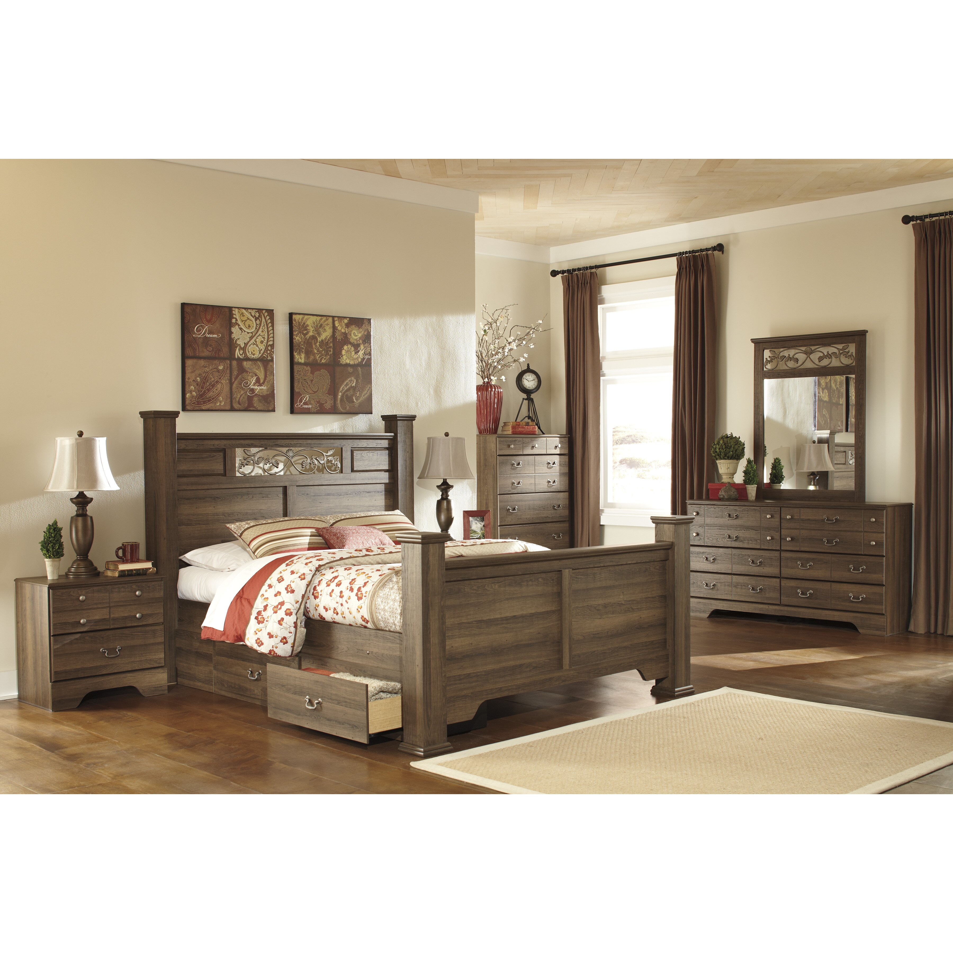 Signature design by ashley allymore 5 drawer chest - Ashley bedroom furniture reviews ...