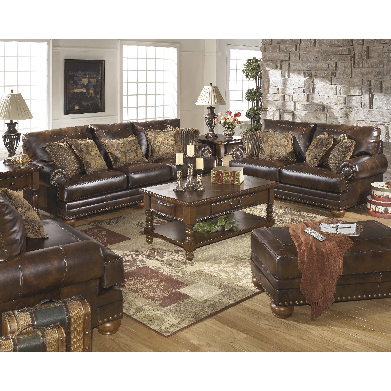Ashley Furniture Sofas: Signature Design By Ashley Leighton Leather Sofa & Reviews