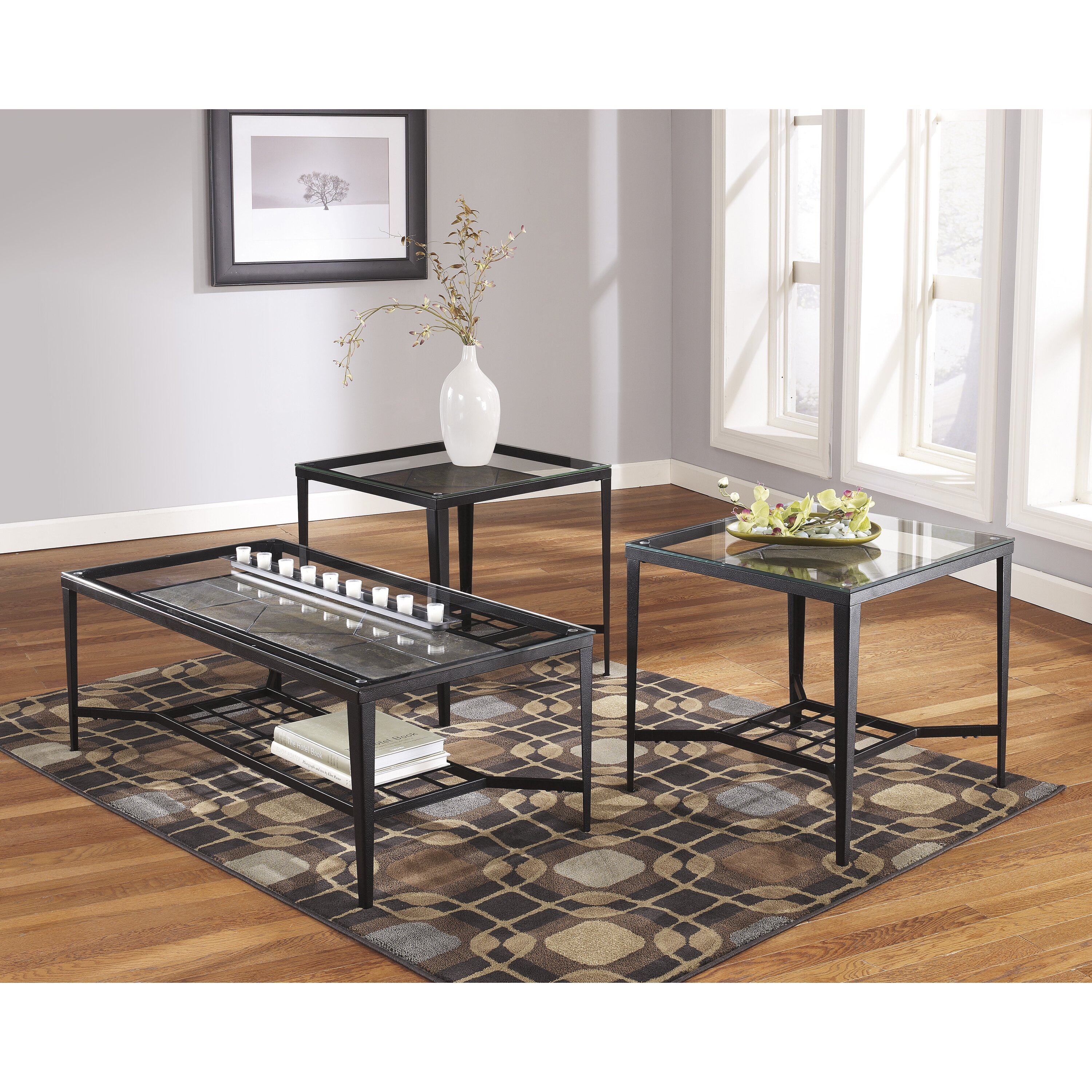 Signature Design By Ashley Alexandra 3 Piece Coffee Table Set Reviews Wayfair
