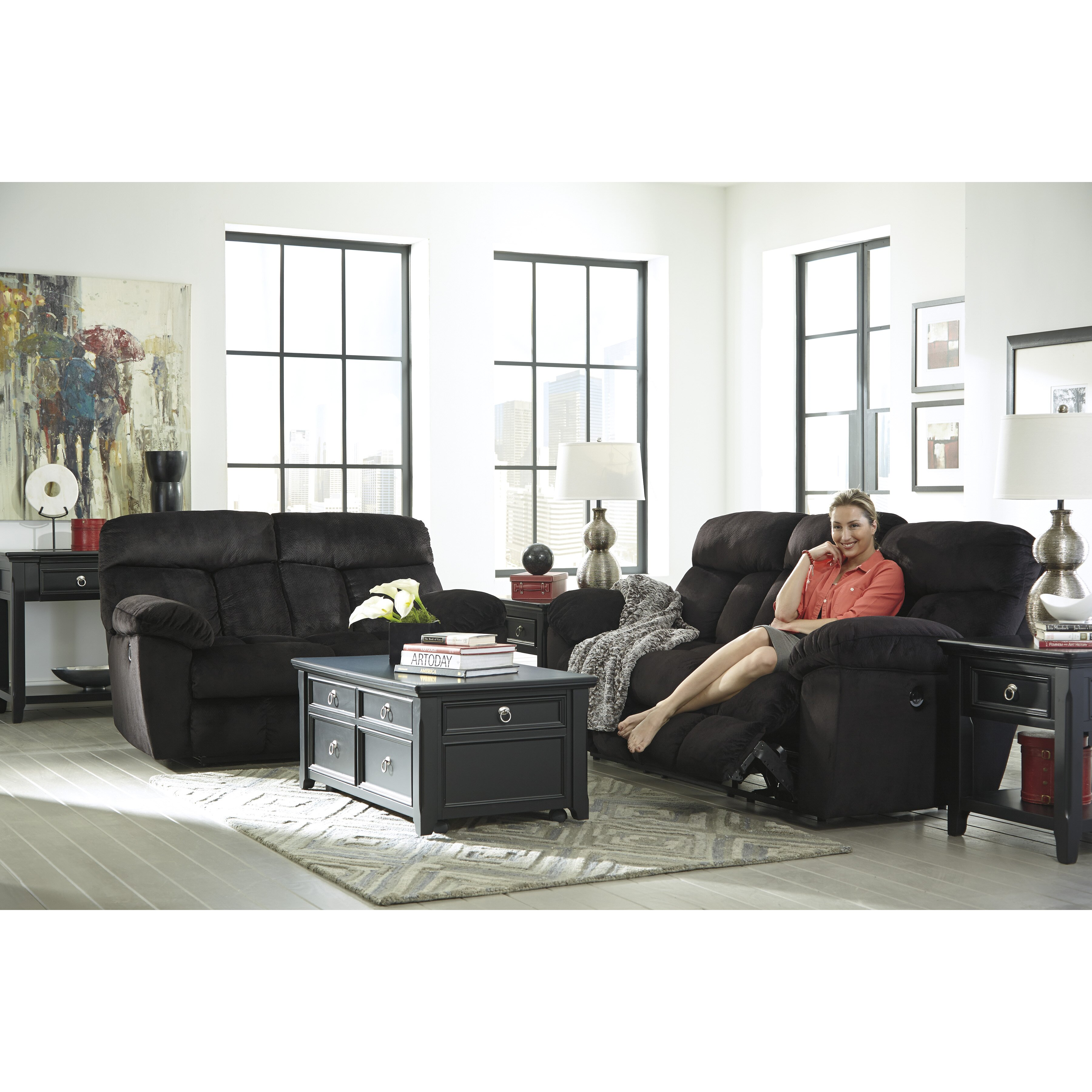 Signature Design By Ashley Saul Reclining Sofa amp Reviews