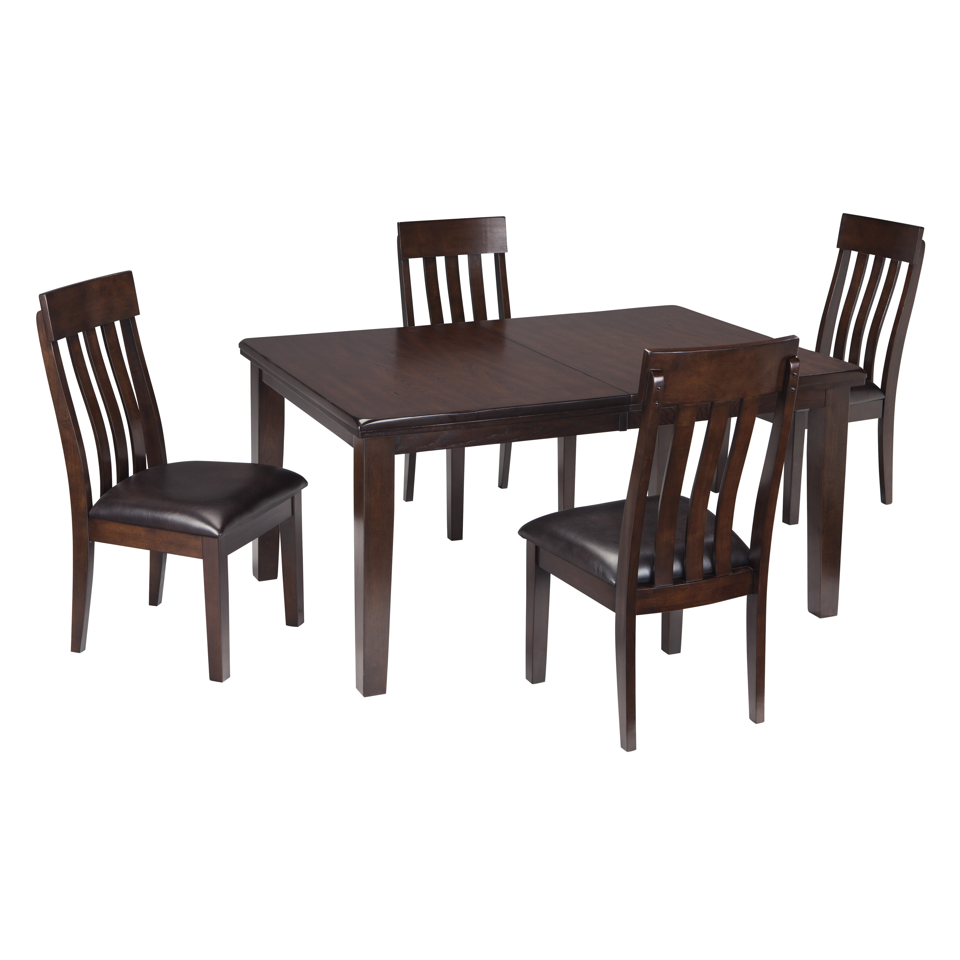 signature design by ashley haddigan extendable dining table wayfair. Black Bedroom Furniture Sets. Home Design Ideas