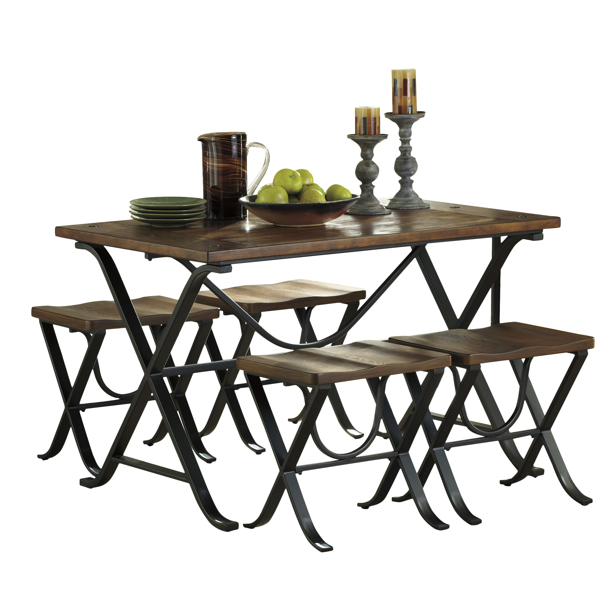 Signature design by ashley freimore 5 piece dining set for Ashley furniture dining room sets design