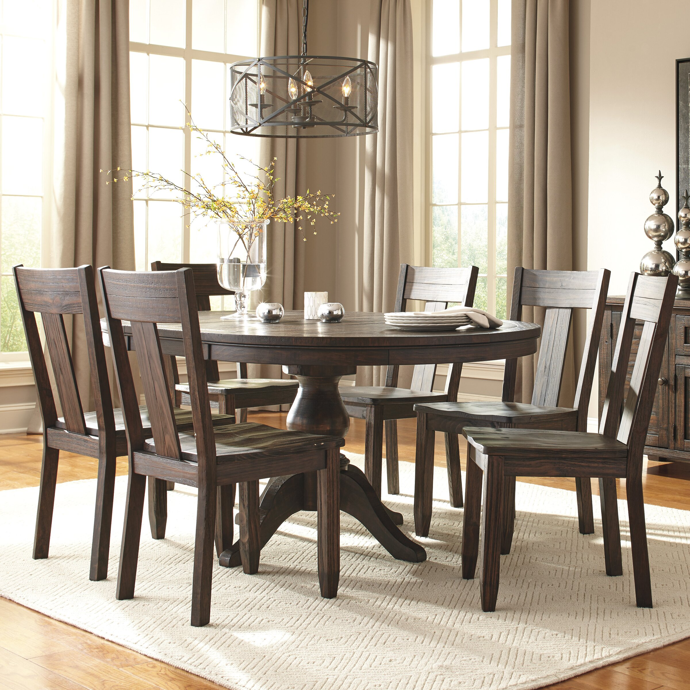 Signature design by ashley 7 piece dining set reviews for Ashley furniture dining room sets design