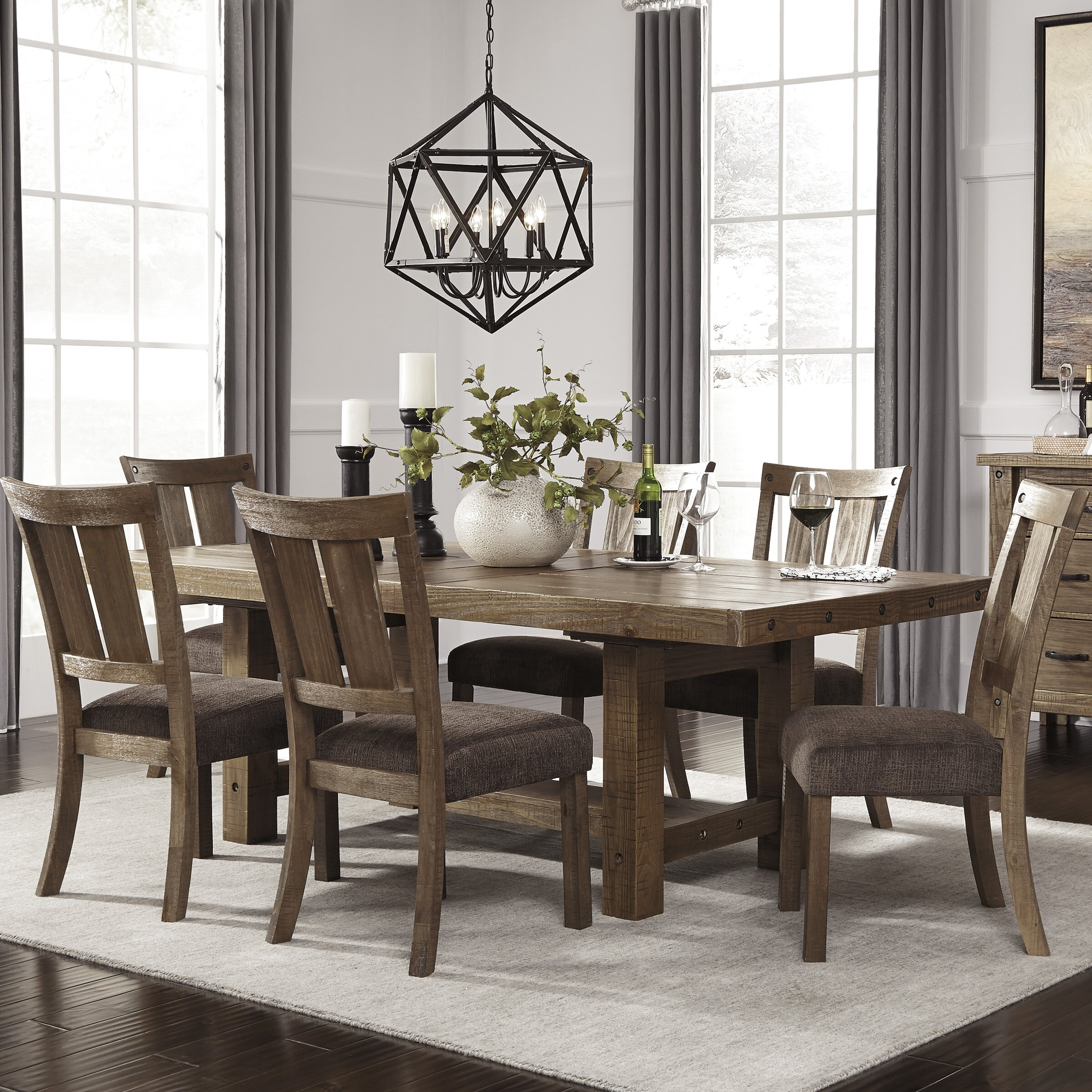 Dining Room Sets: Signature Design By Ashley 7 Piece Dining Set & Reviews