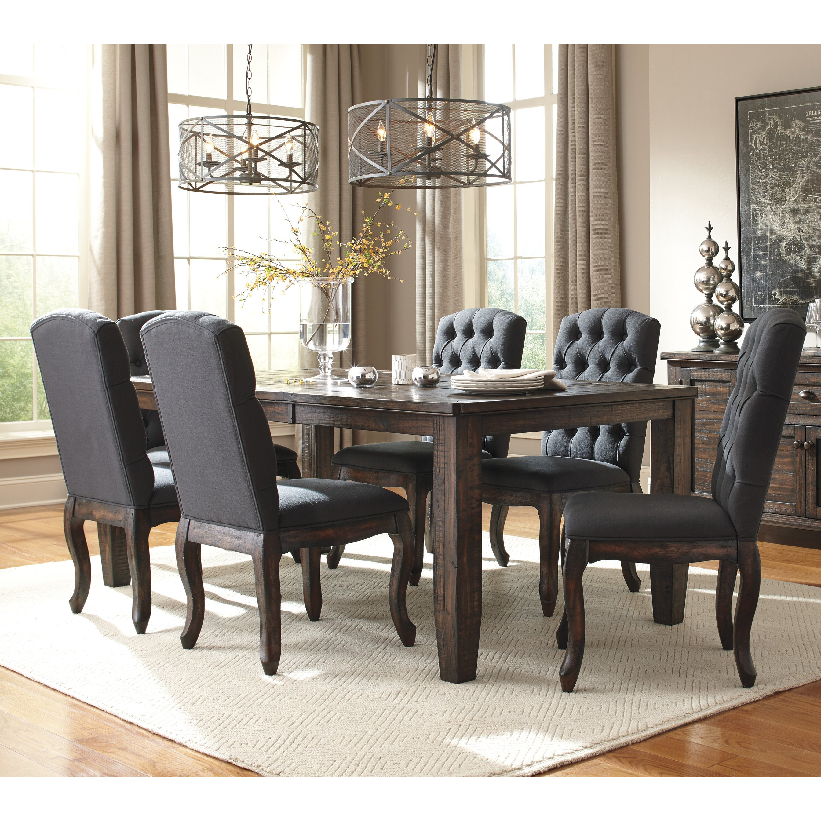 Ashley Furniture Dinette Set: Signature Design By Ashley 7 Piece Dining Set & Reviews