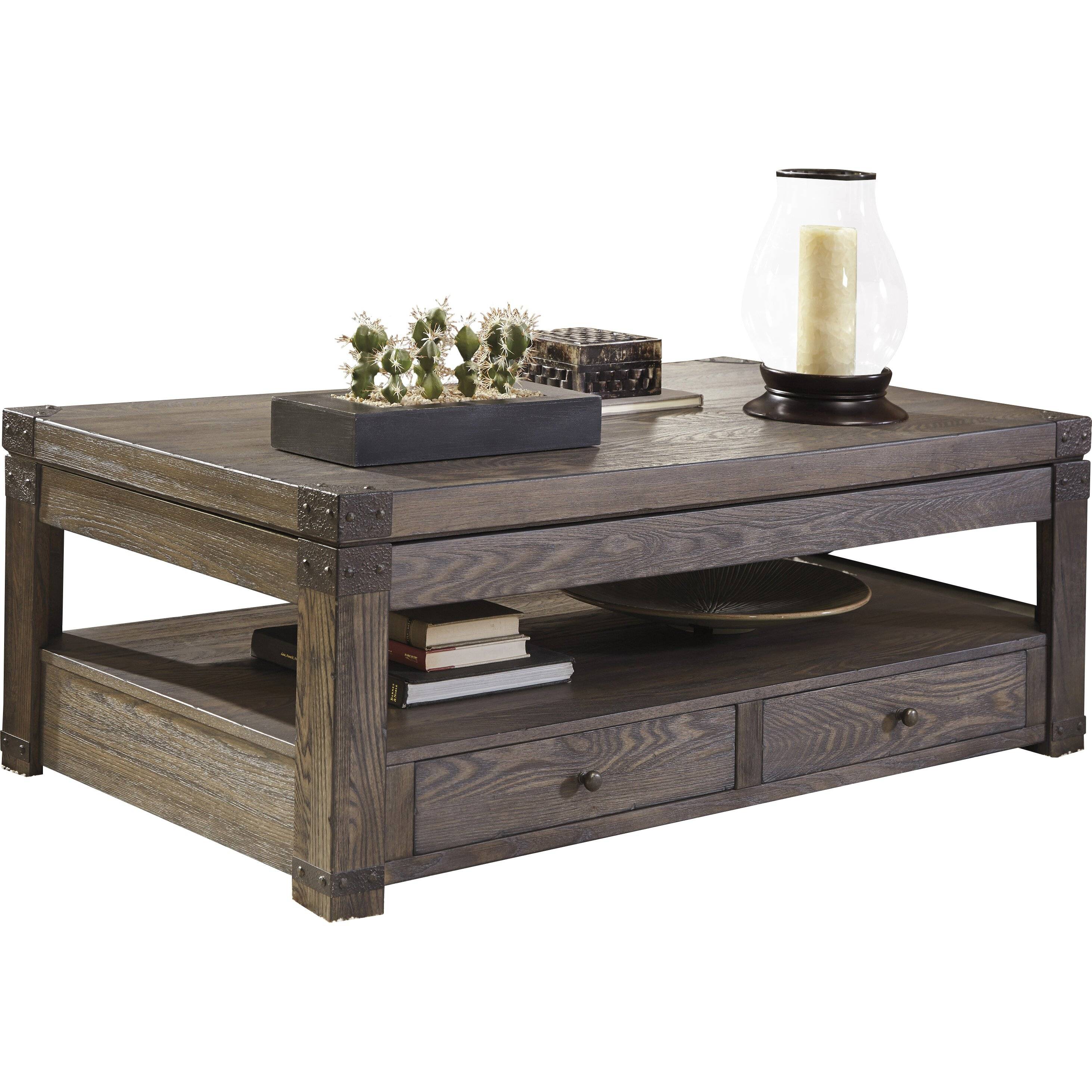 Signature Design By Ashley Burladen Coffee Table With Lift Top Reviews Wayfair