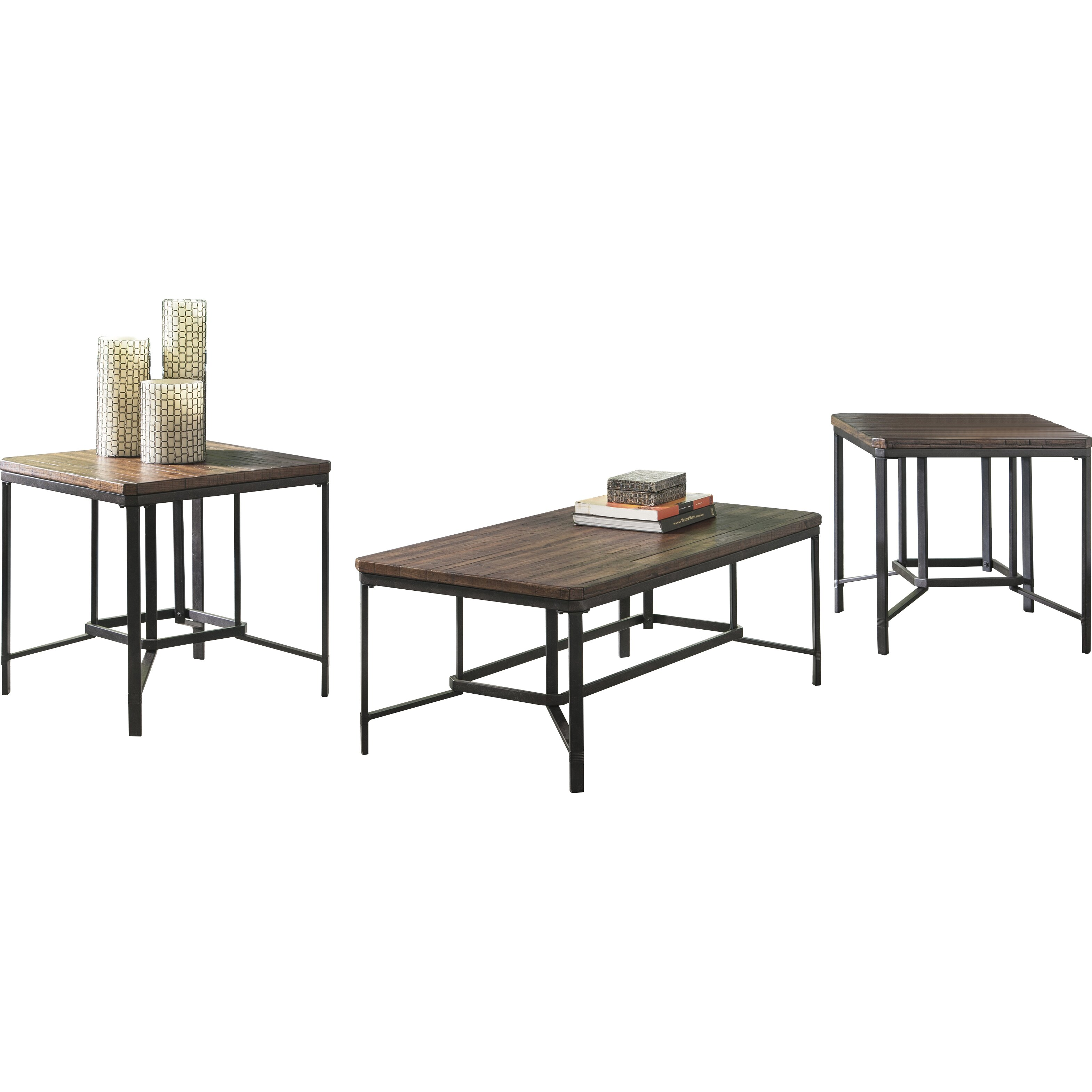 Signature Design by Ashley Newelk 3 Piece Coffee Table Set
