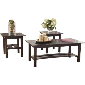 Signature Design By Ashley Mikel 3 Piece Coffee Table Set Reviews Wayfair