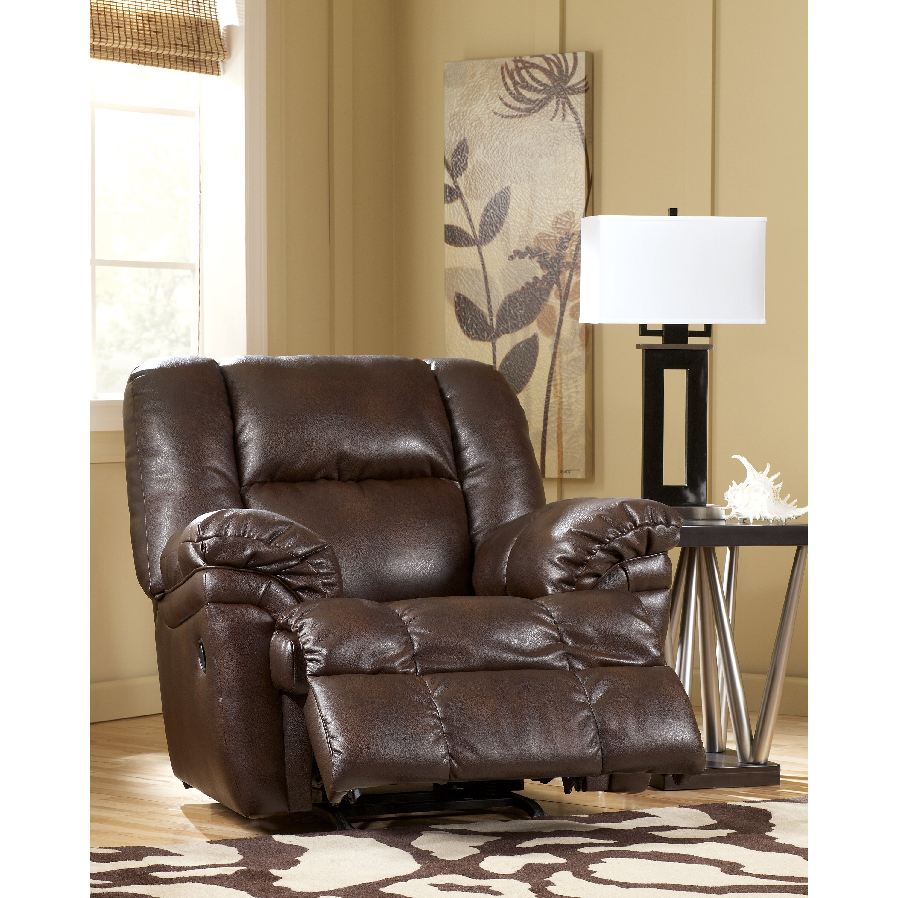 Signature design by ashley holt chaise recliner wayfair for Ashley reclining chaise
