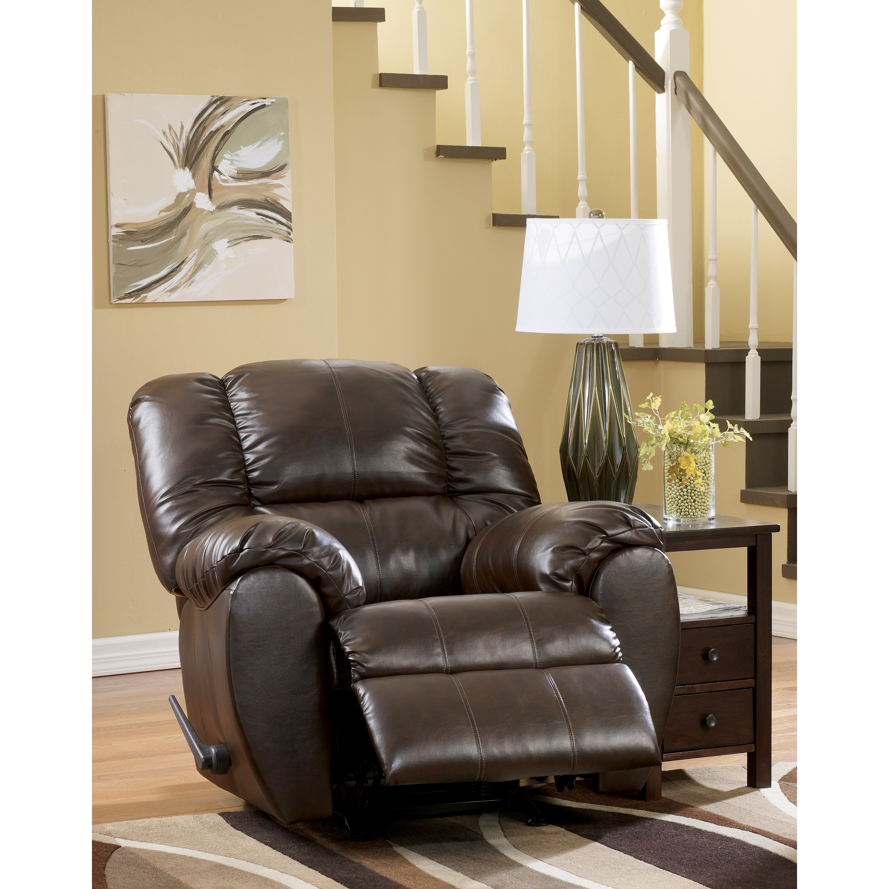 Signature design by ashley jack chaise recliner reviews for Ashley reclining chaise