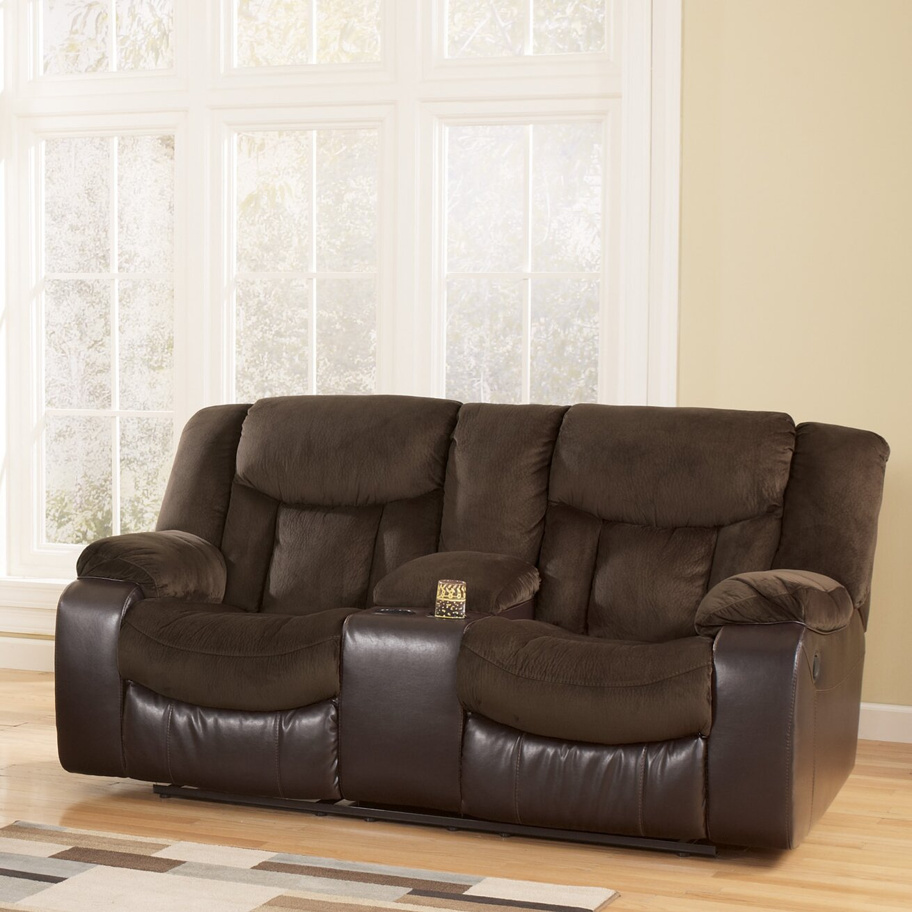 Signature Design By Ashley Bay Double Reclining Loveseat Reviews Wayfair