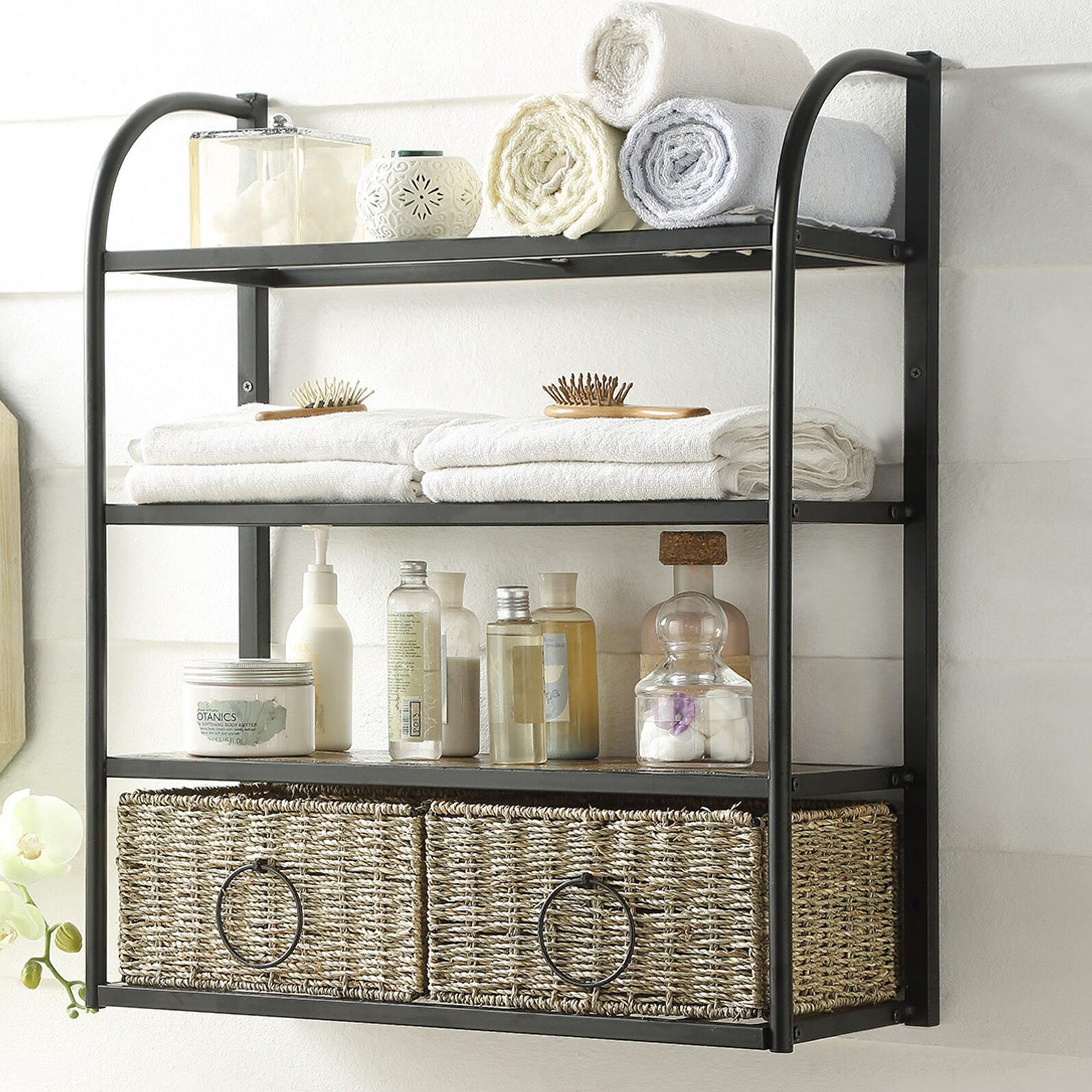 4d Concepts Windsor Hanging Storage Rack With Basket Wayfair