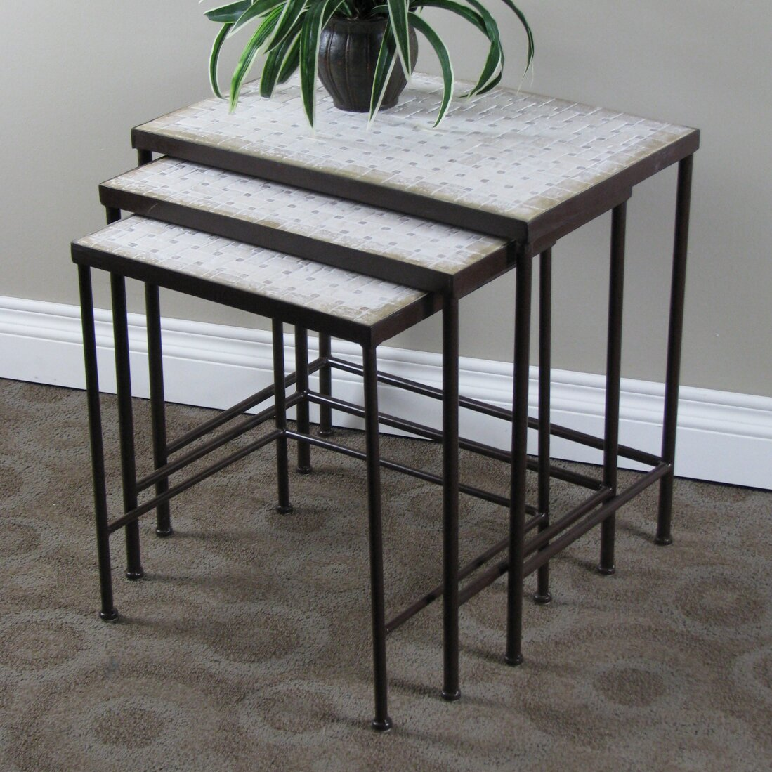 4D Concepts Slate Top Nesting Plant Stand & Reviews Wayfair. Full resolution  photograph, nominally Width 1099 Height 1099 pixels, photograph with #426140.