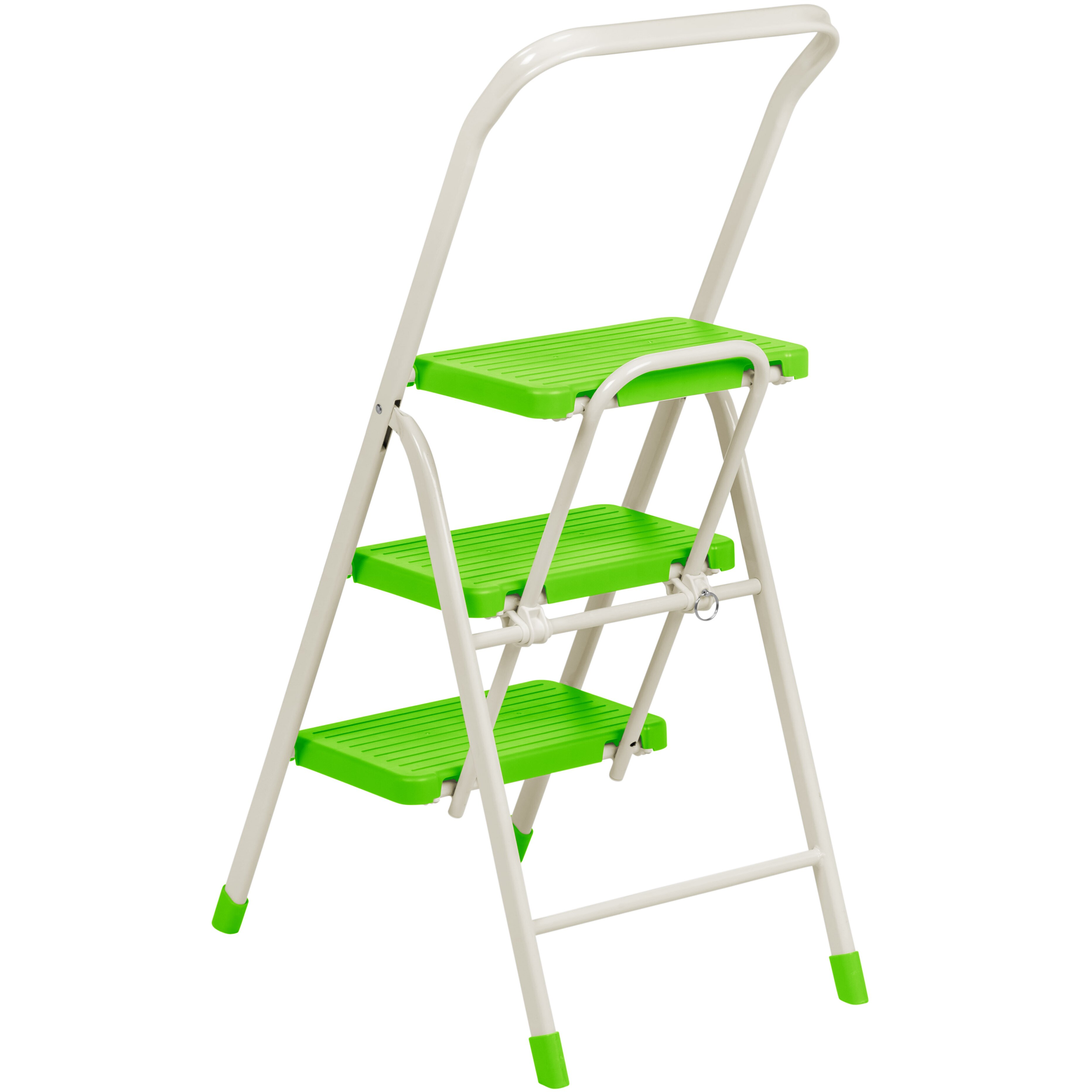 Iris 3 Step Folding Step Stool With 225 Lb Load Capacity