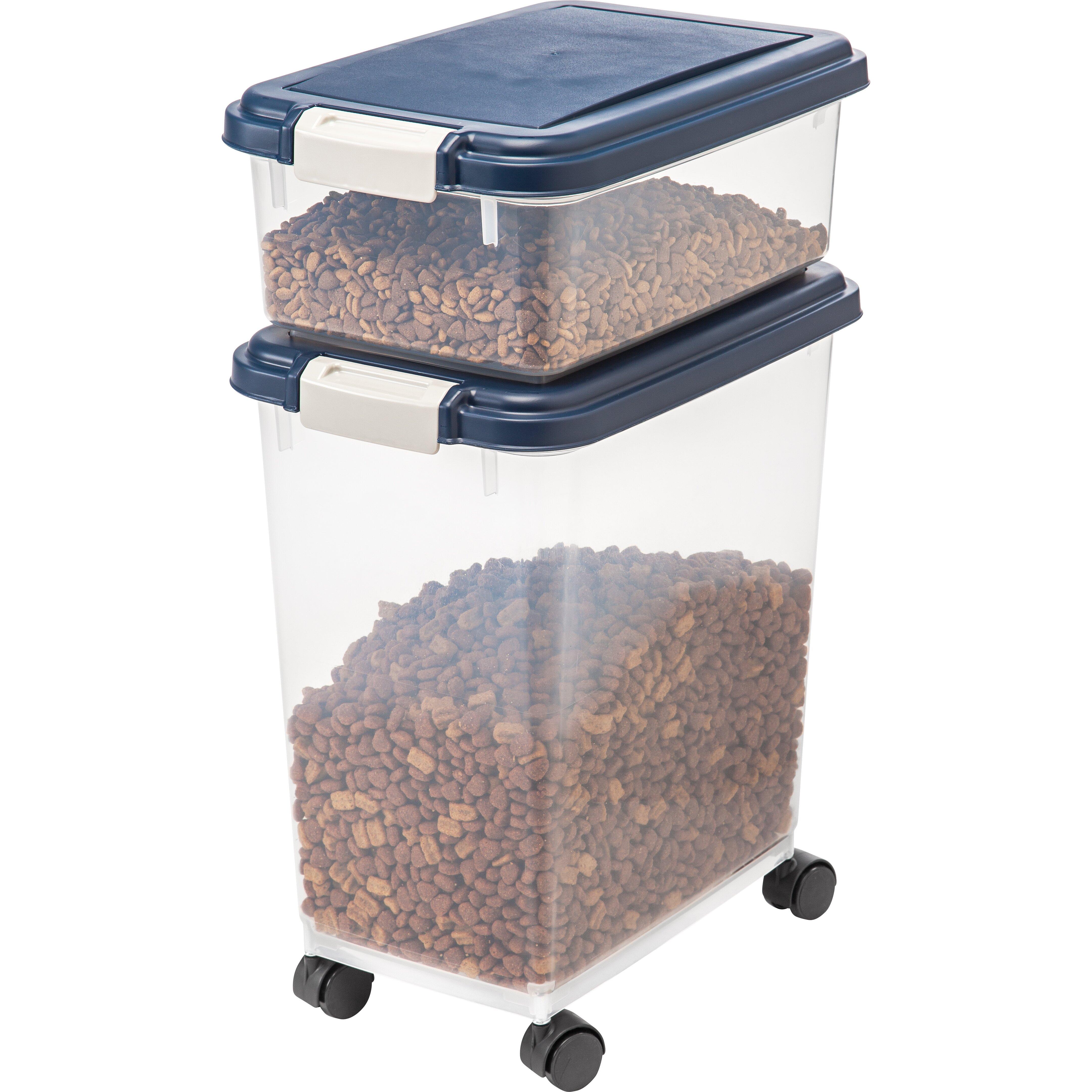 iris 3 piece airtight pet food storage container set reviews wayfair. Black Bedroom Furniture Sets. Home Design Ideas