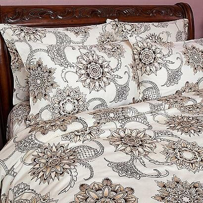 Sin in linen henna tattoo comforter collection reviews for Tattoo bedding queen