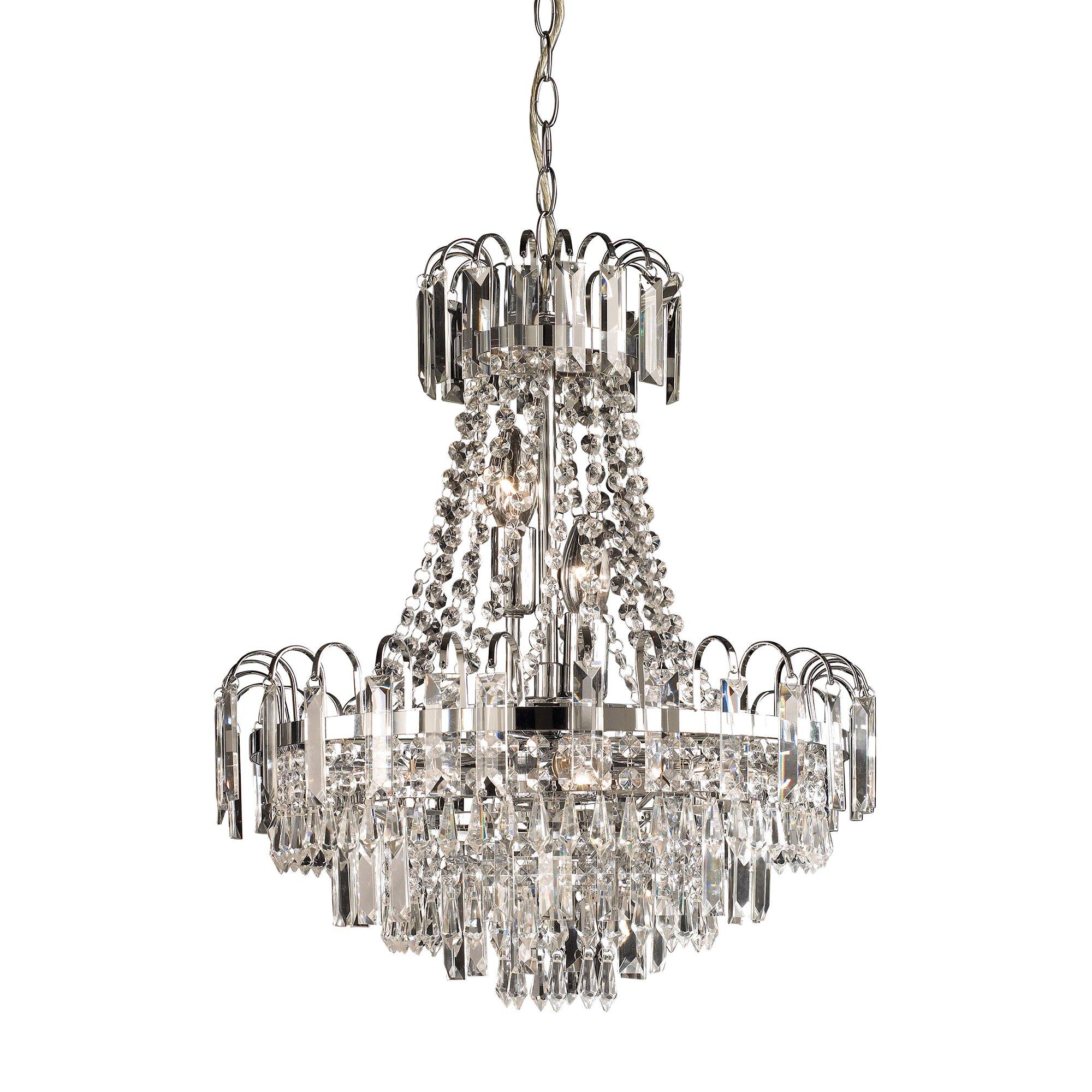Endon lighting amadis 6 light crystal chandelier reviews for 6 light crystal chandelier