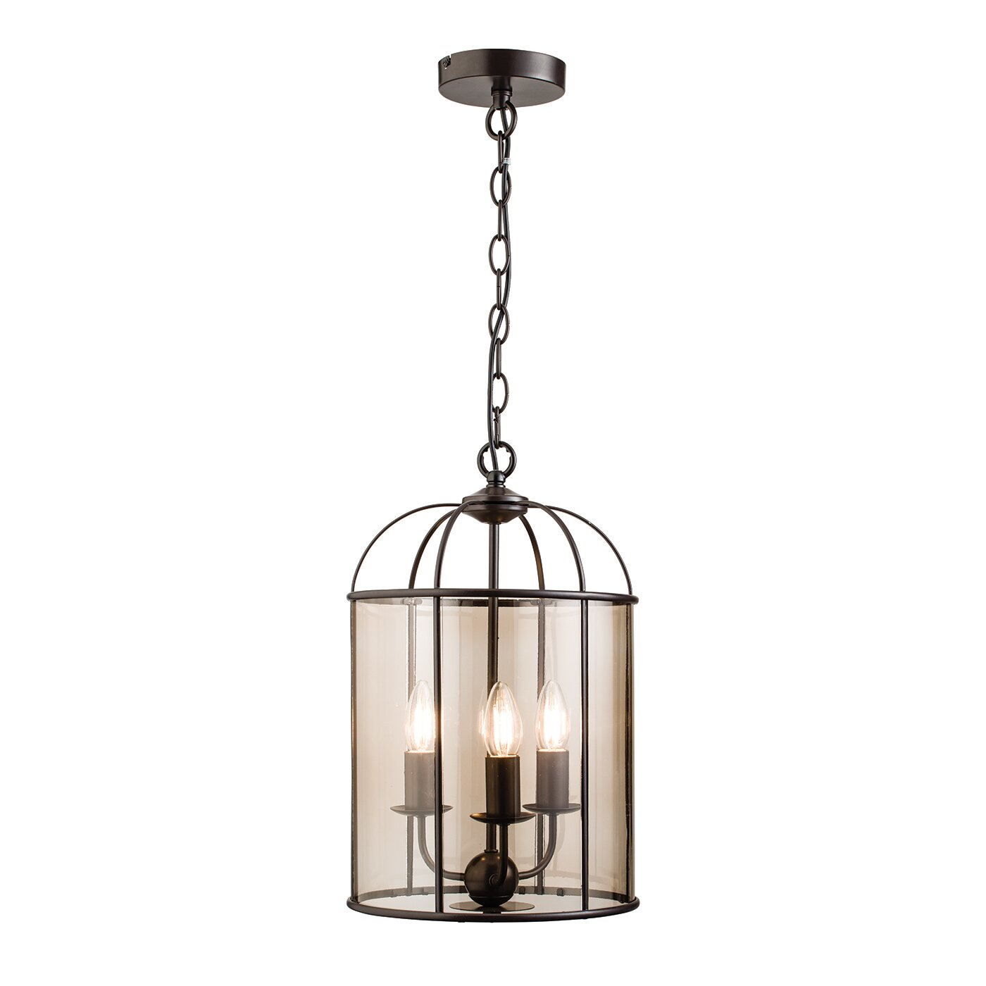 Endon Lighting Waterston 3 Light Foyer Pendant