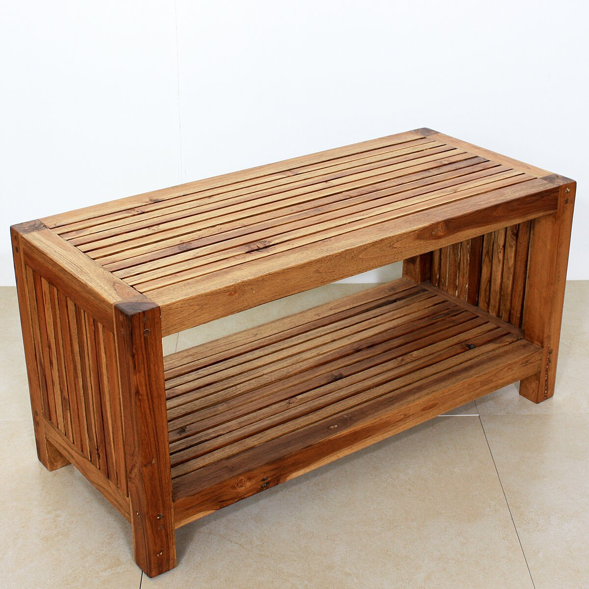 Teak Oil Coffee Table: Strata Furniture Teak Slat Coffee Table & Reviews