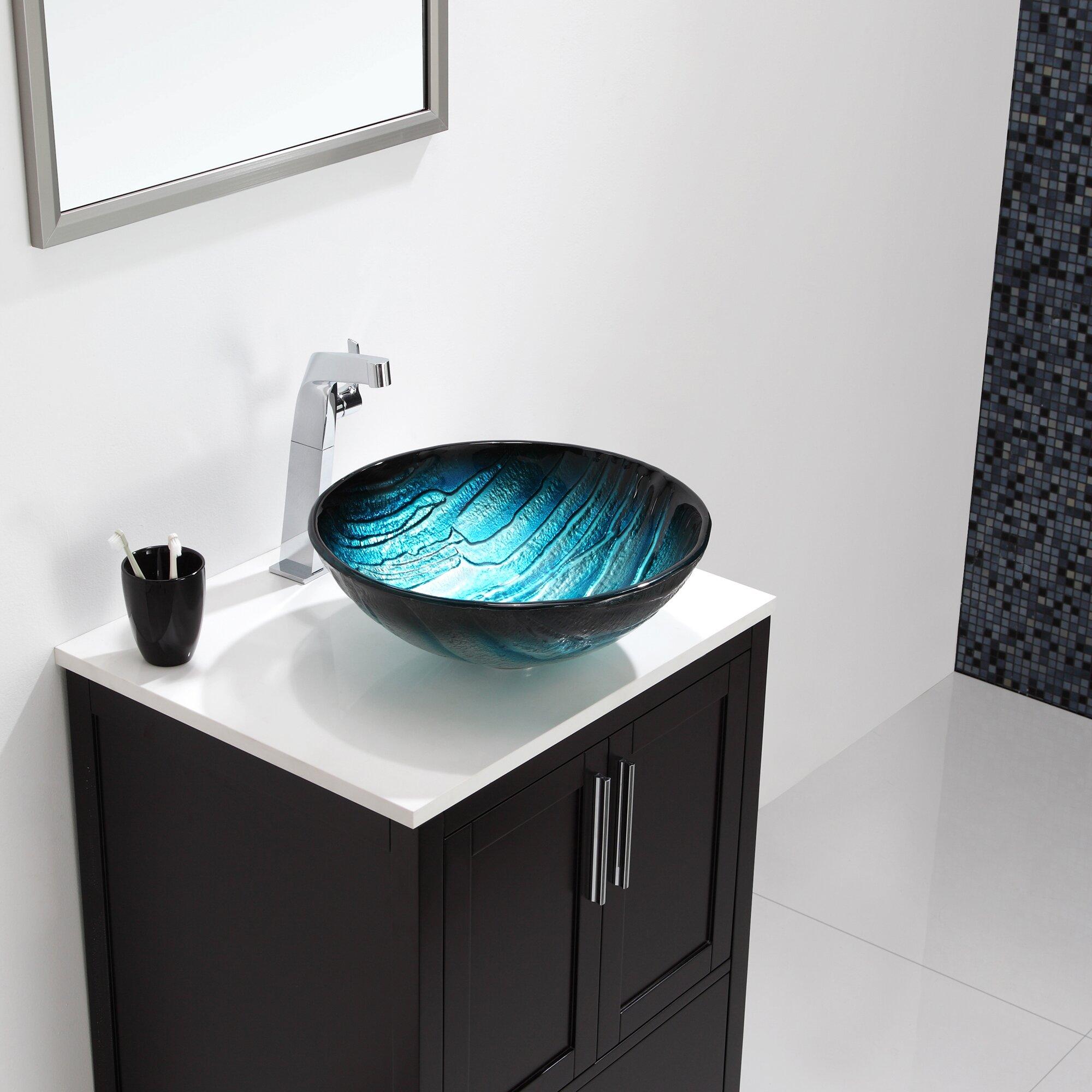 Kraus Ladon Glass Vessel Sink & Reviews Wayfair