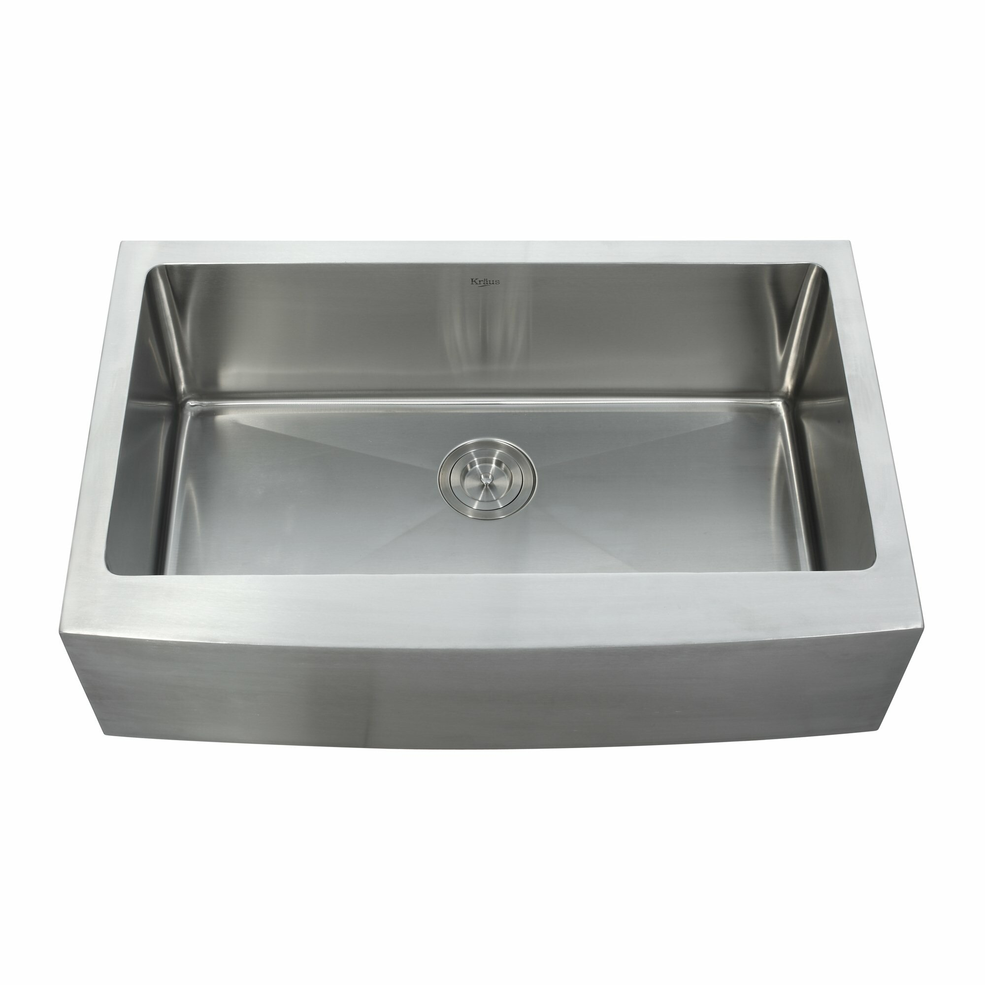 Farmhouse Sink With Faucet : Kraus Farmhouse Kitchen Sink with Faucet and Soap Dispenser & Reviews ...