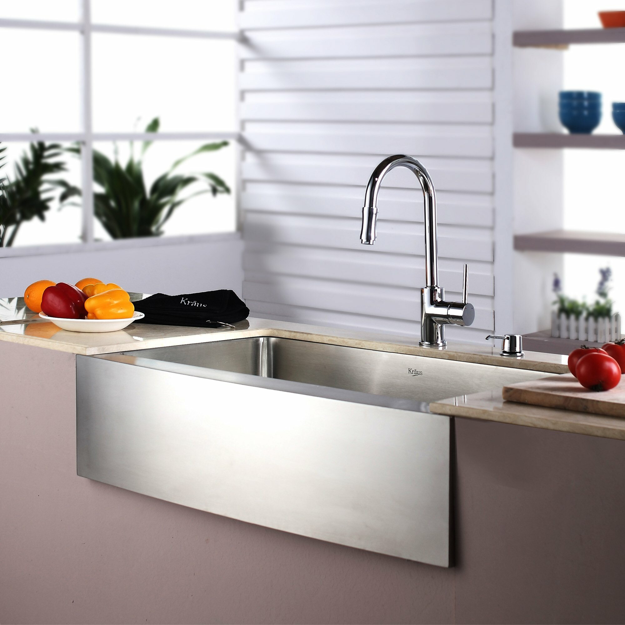 Kraus Farmhouse Kitchen Sink With Faucet And Soap