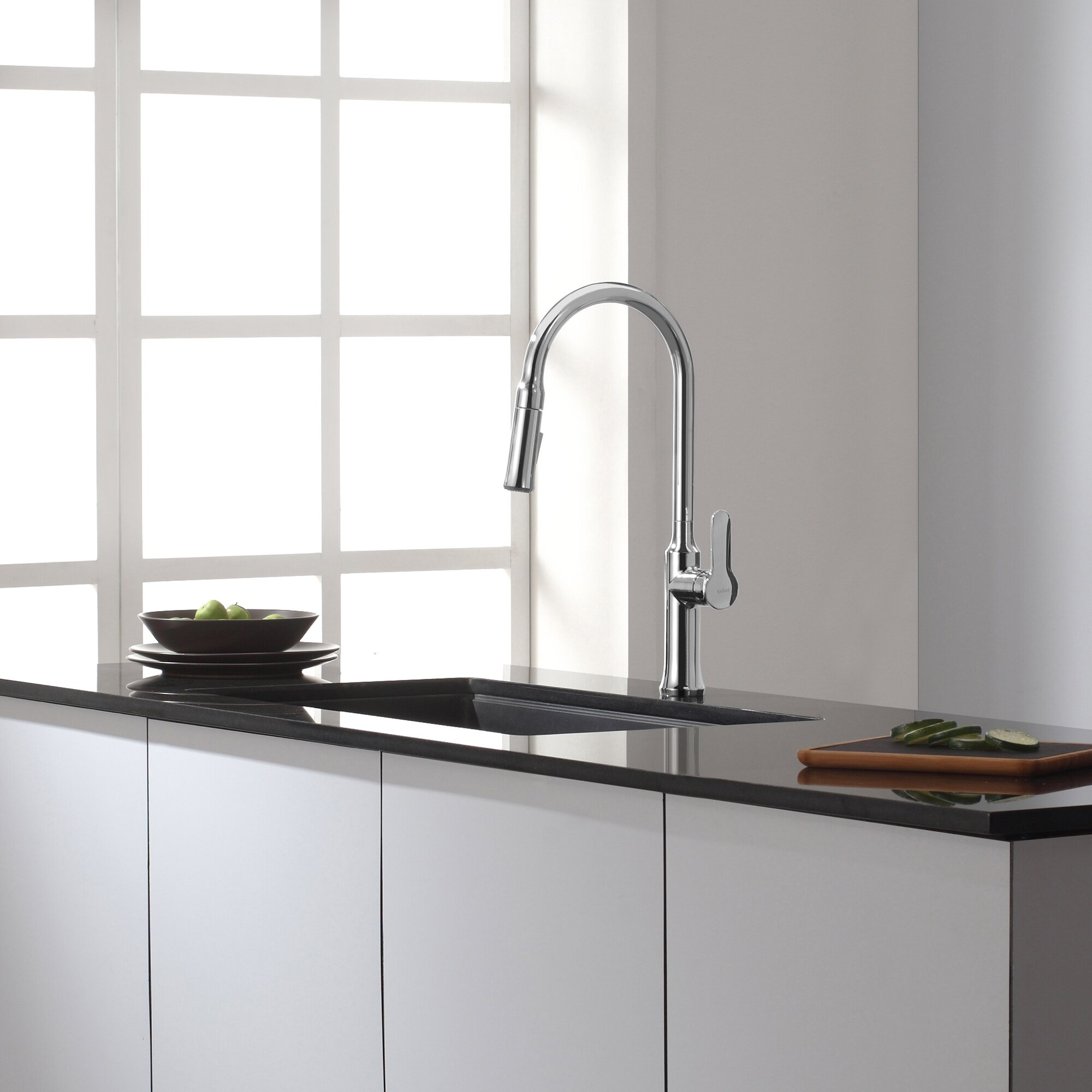 Kraus Single Lever Pull Out Kitchen Faucet