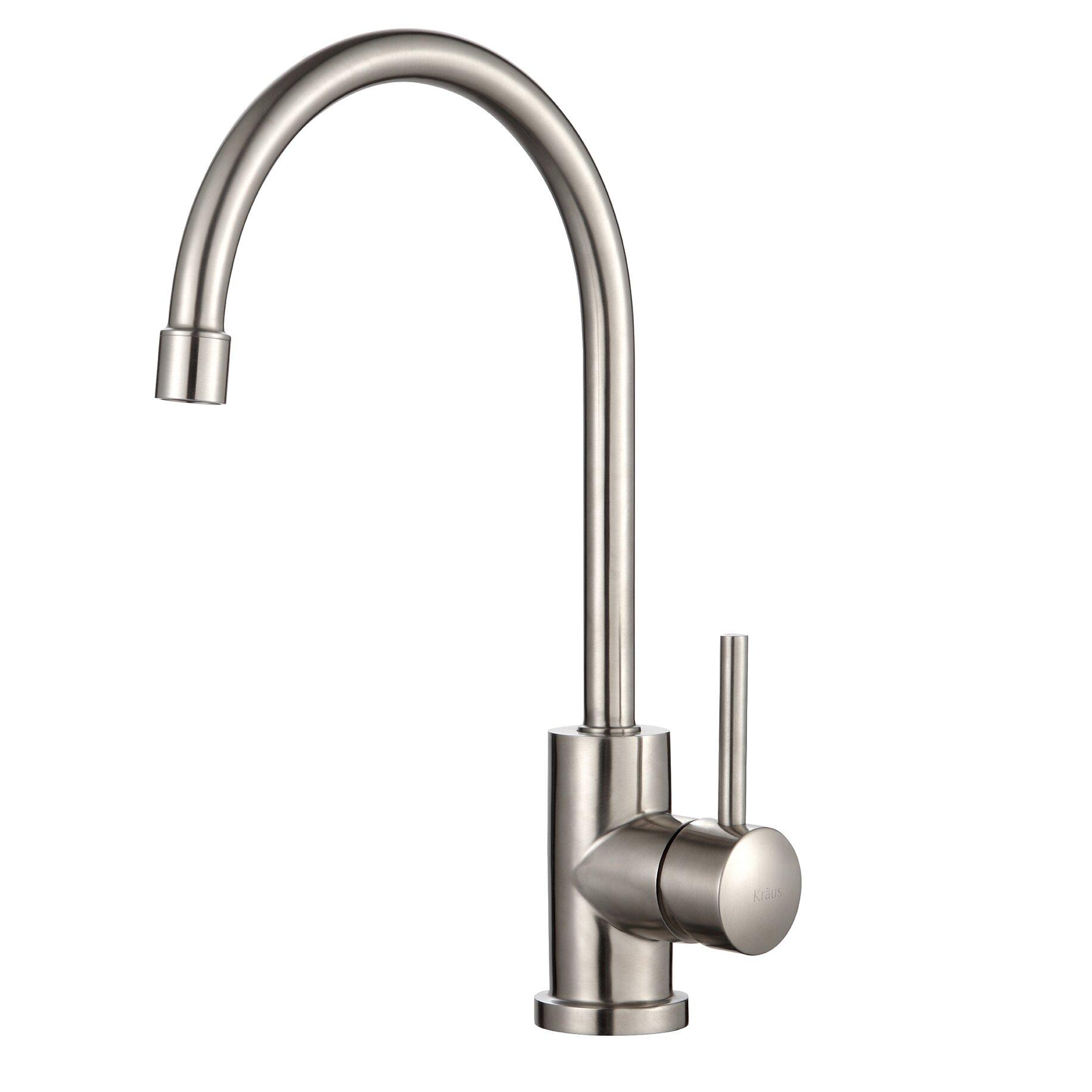 Kraus One Handle Single Hole Kitchen Faucet Reviews Wayfair