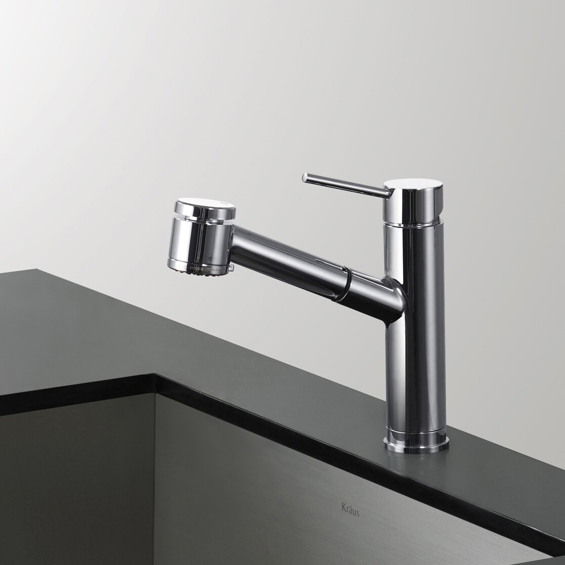 Kraus Mateo Single Lever Pull Out Kitchen Faucet Reviews Wayfair