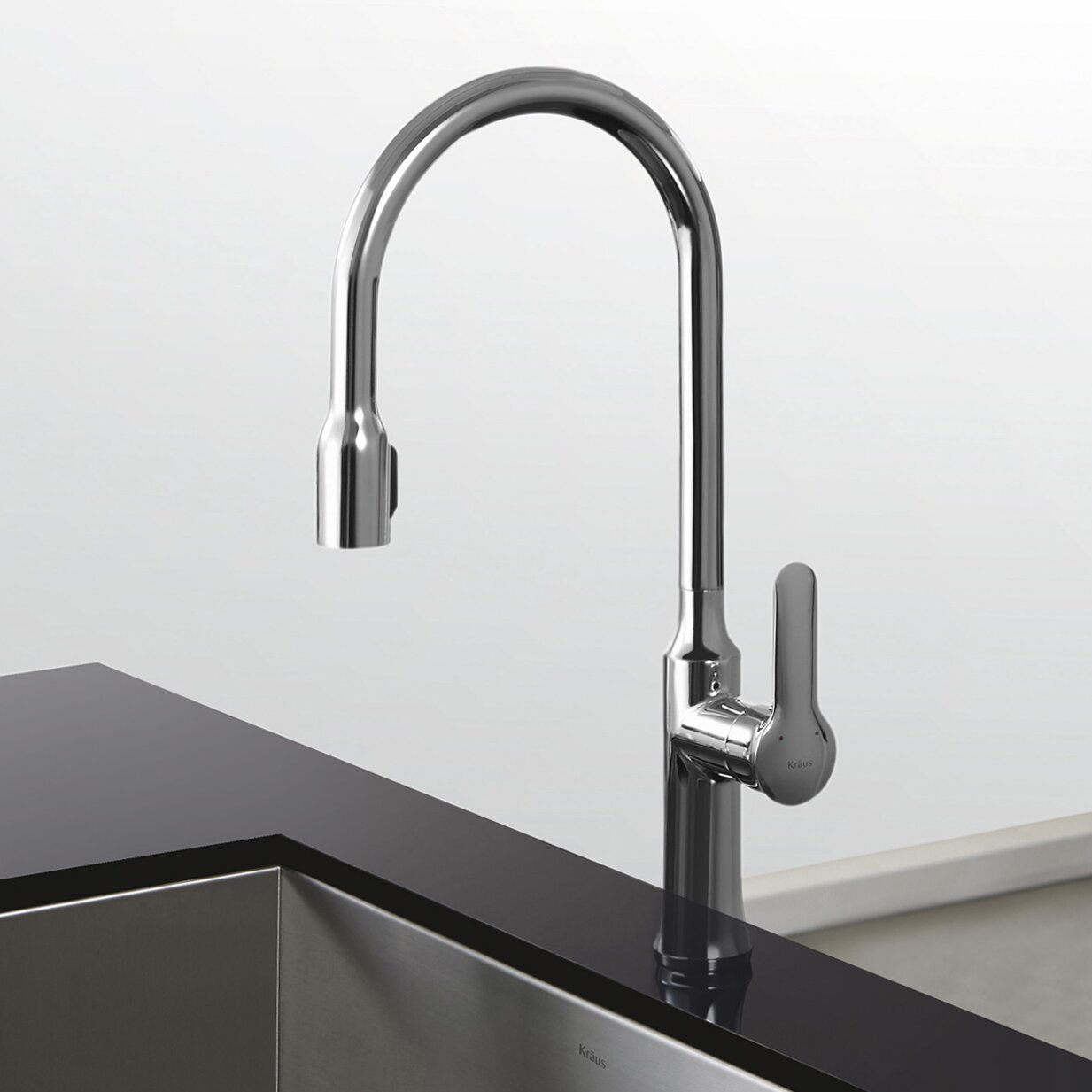 kraus nola single lever concealed pull down kitchen kraus kpf 1602 review kitchen faucet reviews