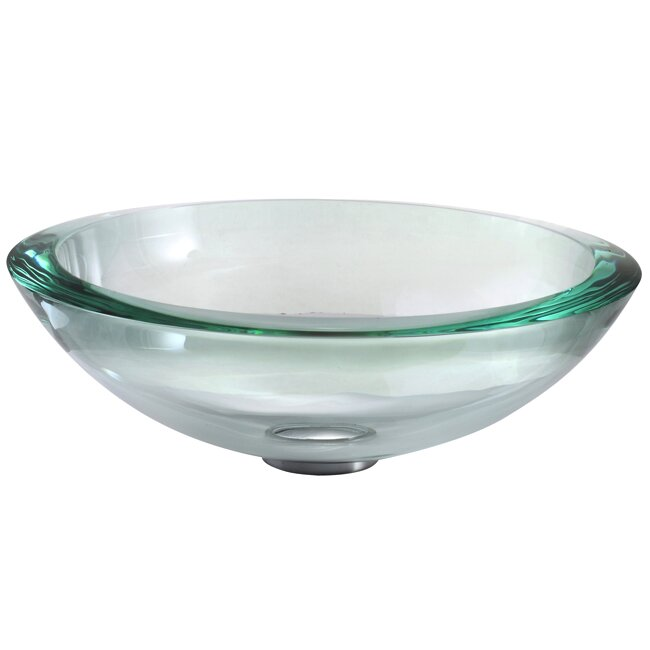 Sink Glass : Kraus Clear 34mm Edge Glass Vessel Sink & Reviews Wayfair