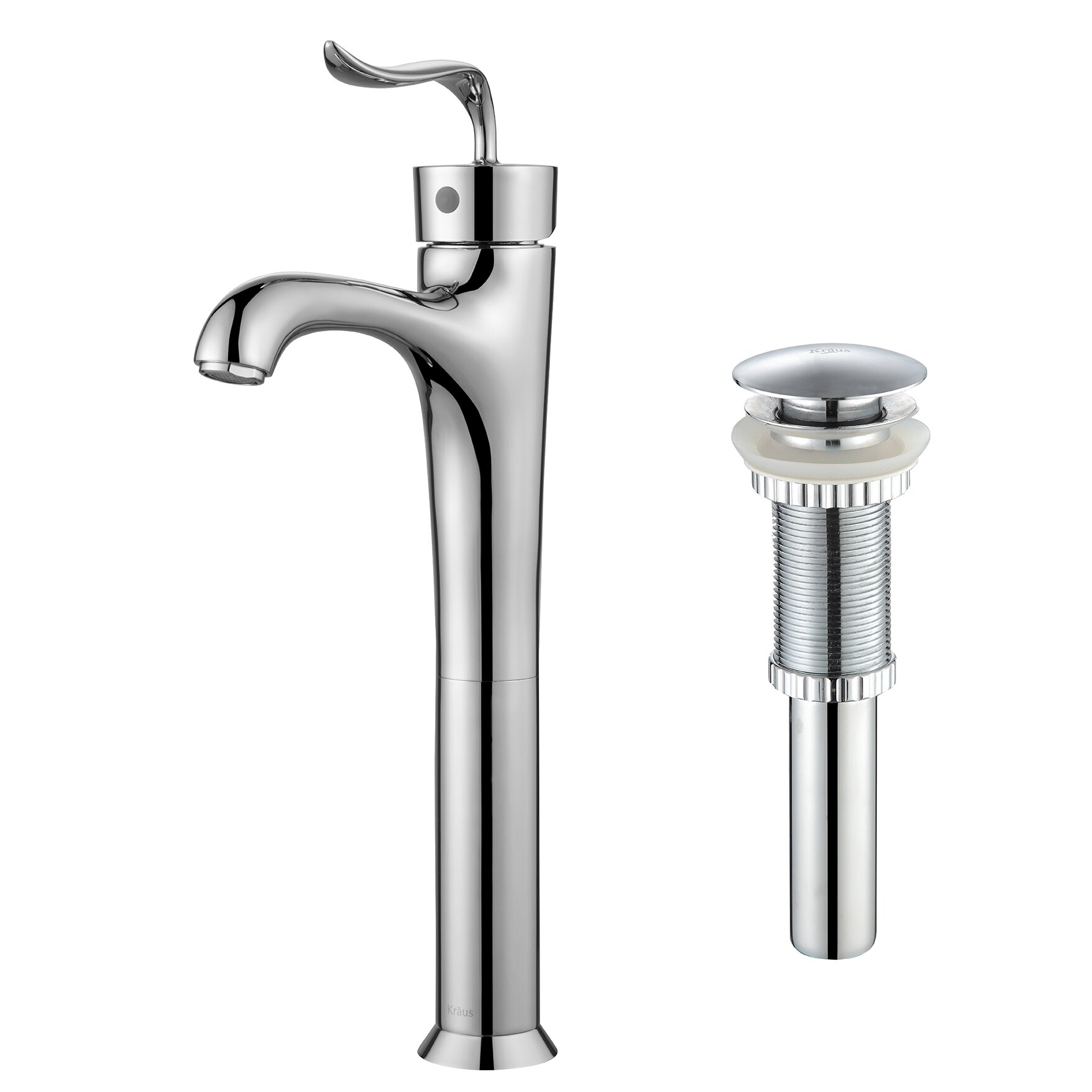 Kraus coda single lever vessel bathroom faucet with pop - Kraus shower faucets ...