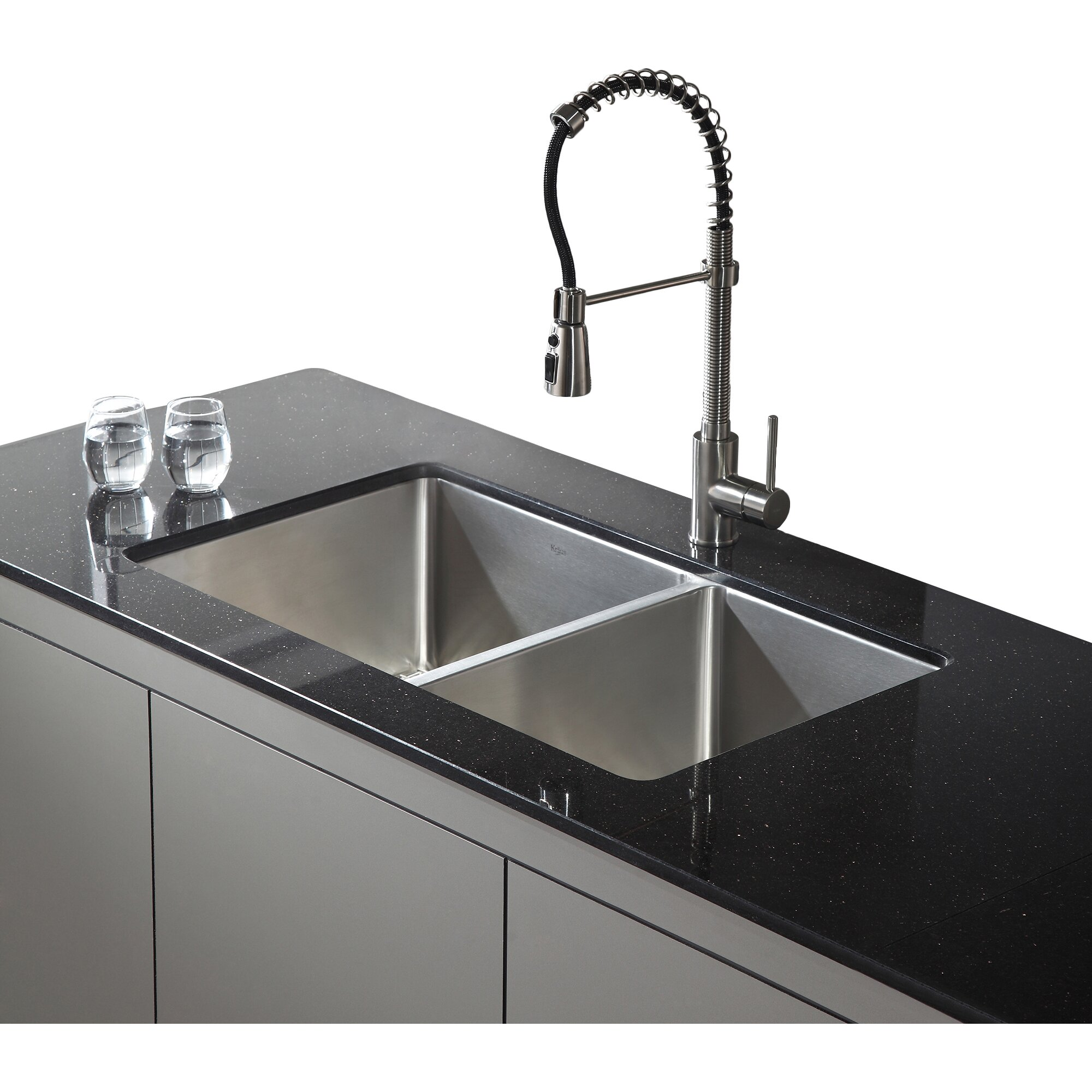 double undermount kitchen sink kraus 32 75 quot x 19 quot 6 undermount bowl kitchen 6939