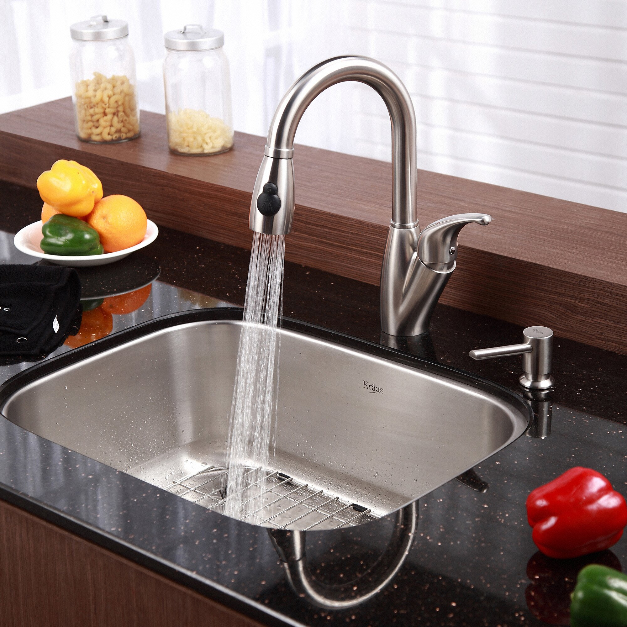undermount sink kitchen kraus stainless steel 16 undermount 31 5 quot single 3030