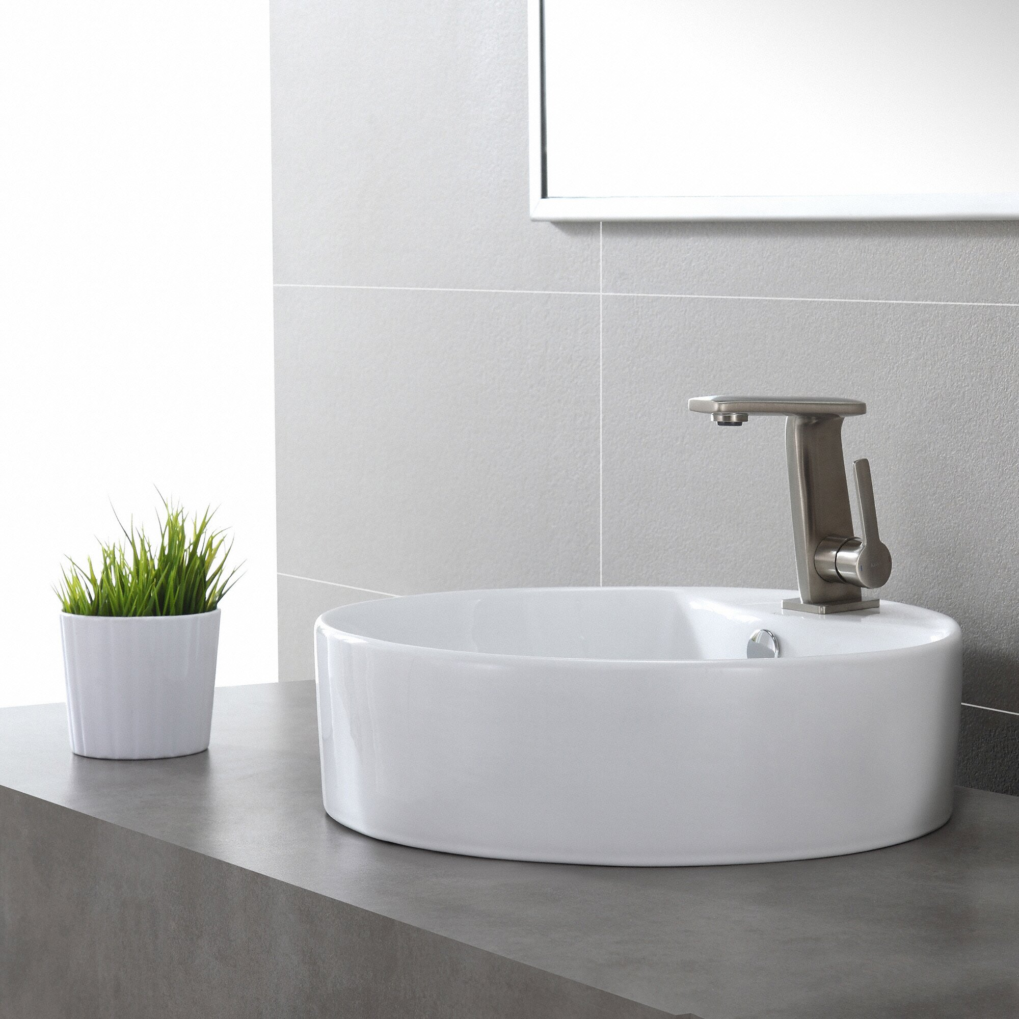 Kraus Ceramic Round Sink & Reviews Wayfair