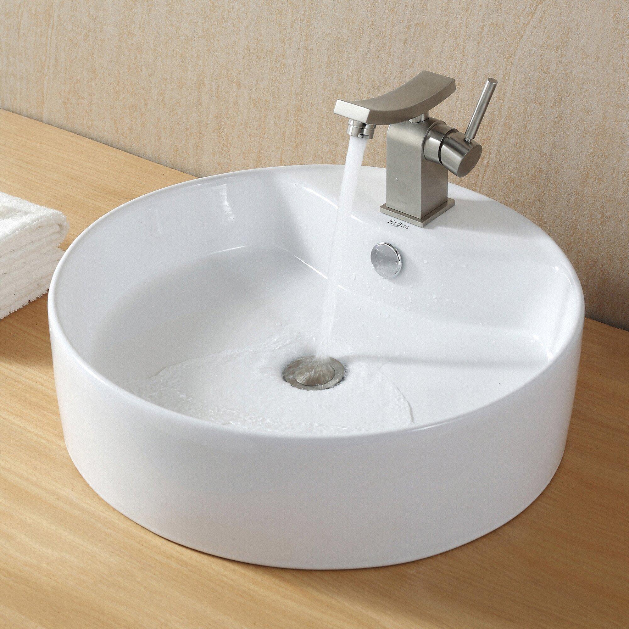 Kraus Sink Reviews : Kraus Ceramic Round Sink & Reviews Wayfair