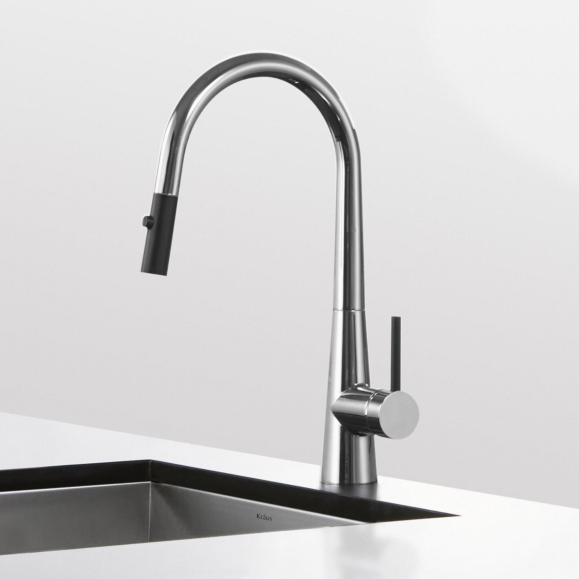 Kraus Crespo Single Lever Pull Down Kitchen Faucet Reviews Wayfair
