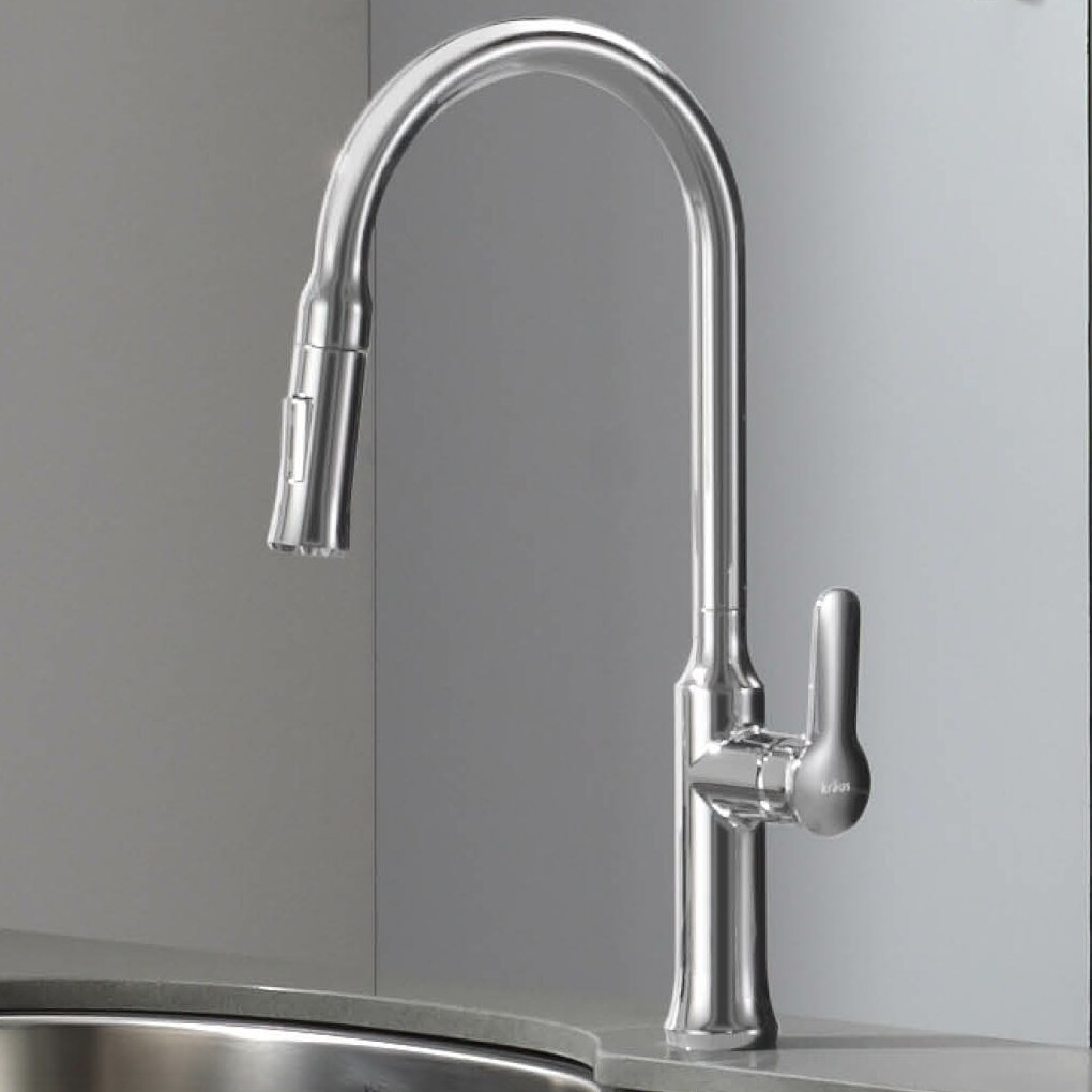 Kraus Nola™ Single Lever Pull Down Kitchen Faucet