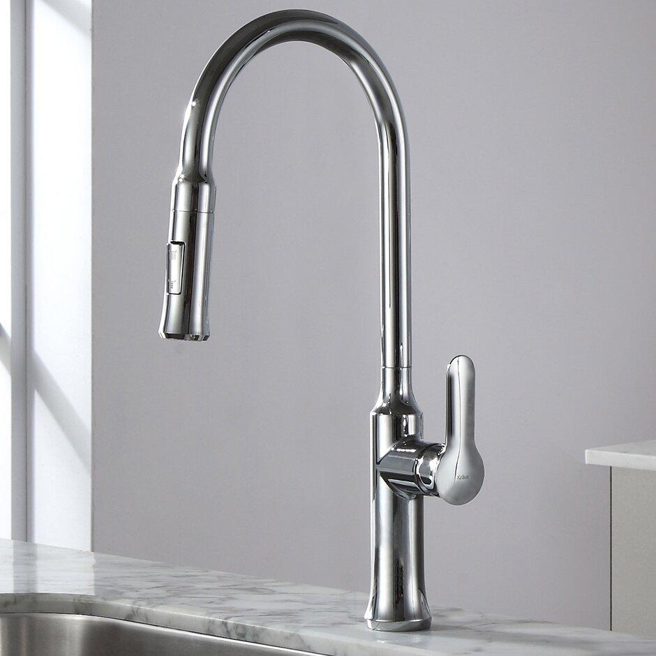 Kraus Nola? Single Lever Pull Down Kitchen Faucet & Reviews ...