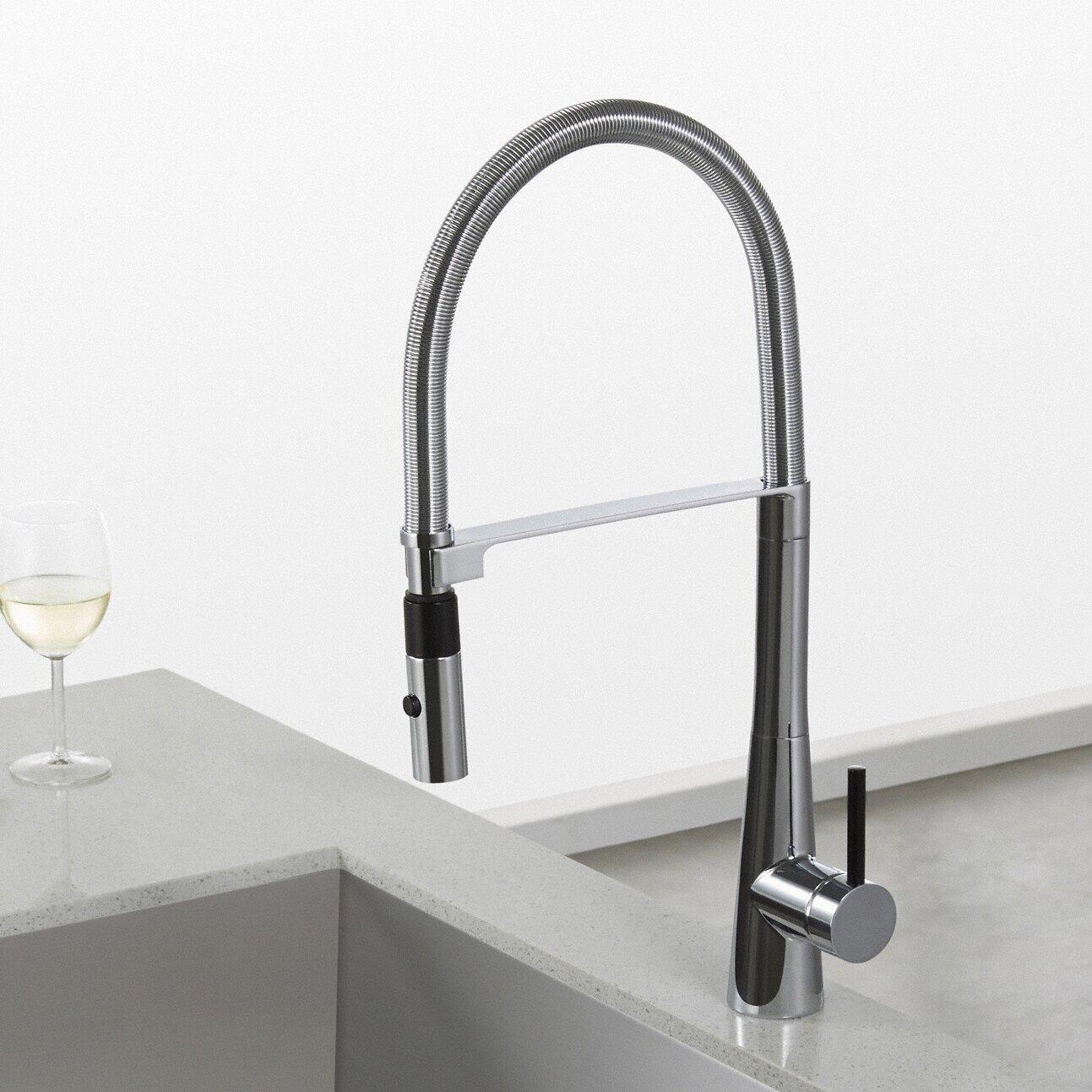 Kraus Crespo™ Single Lever Commercial Style Kitchen Faucet ...