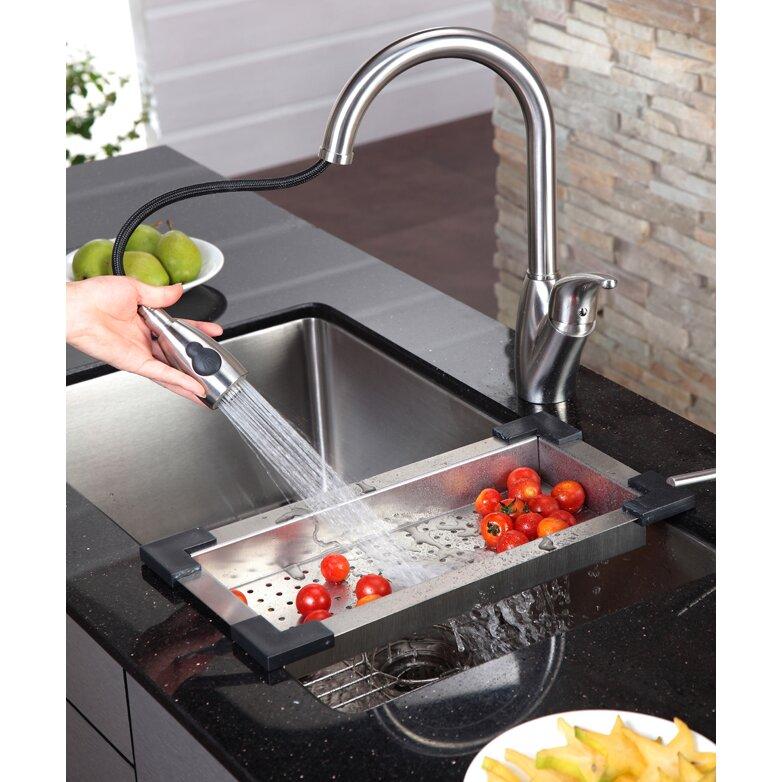 Kraus Kitchen Sink Reviews : Kraus Stainless Steel Colander for Kitchen Sink & Reviews Wayfair