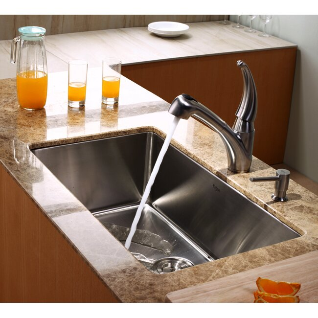 kraus single handle single hole kitchen faucet with pull urbena single hole kitchen faucet with pull out spray