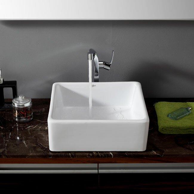 Kraus Bathroom Combos Single Hole Waterfall Typhon Faucet And Bathroom Sink Reviews Wayfair