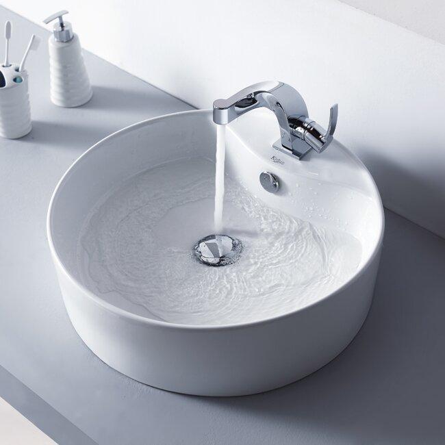Kraus Bathroom Combos Single Hole Typhon Faucet and Bathroom Sink ...